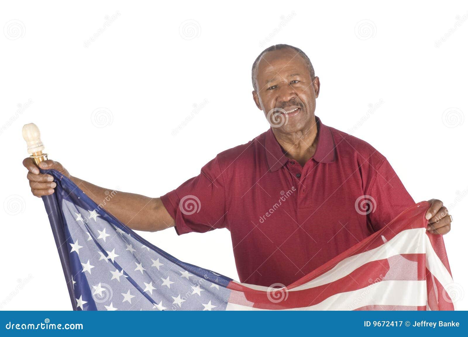 Z flaga czarny Starszy obywatel