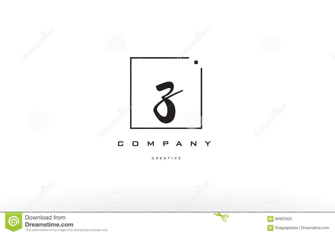 Z Hand Writing Letter Company Logo Icon Design Stock Vector