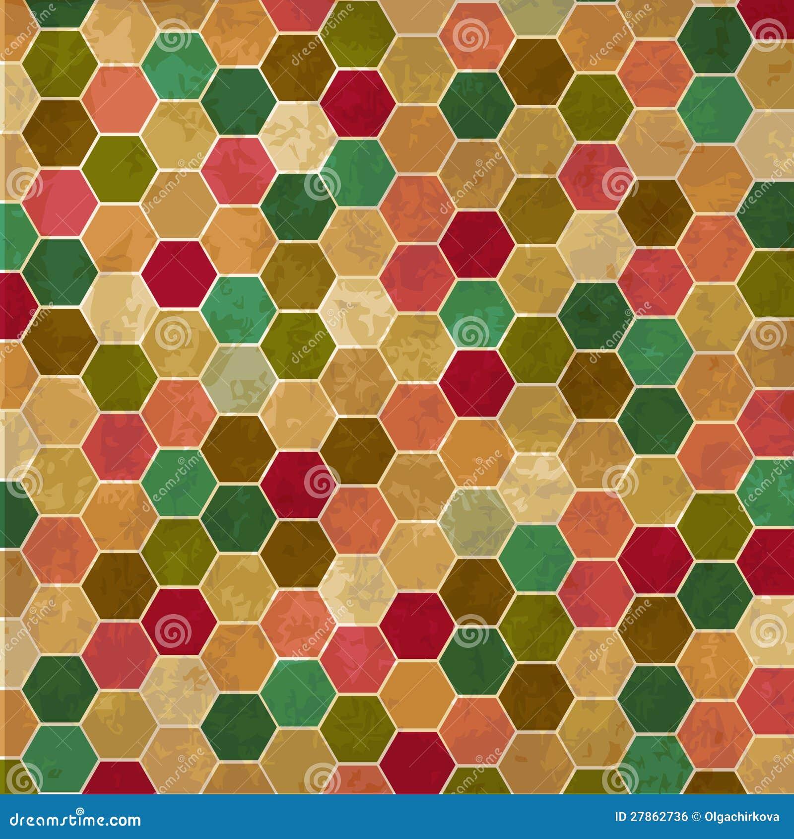 Z honeycombs retro tło
