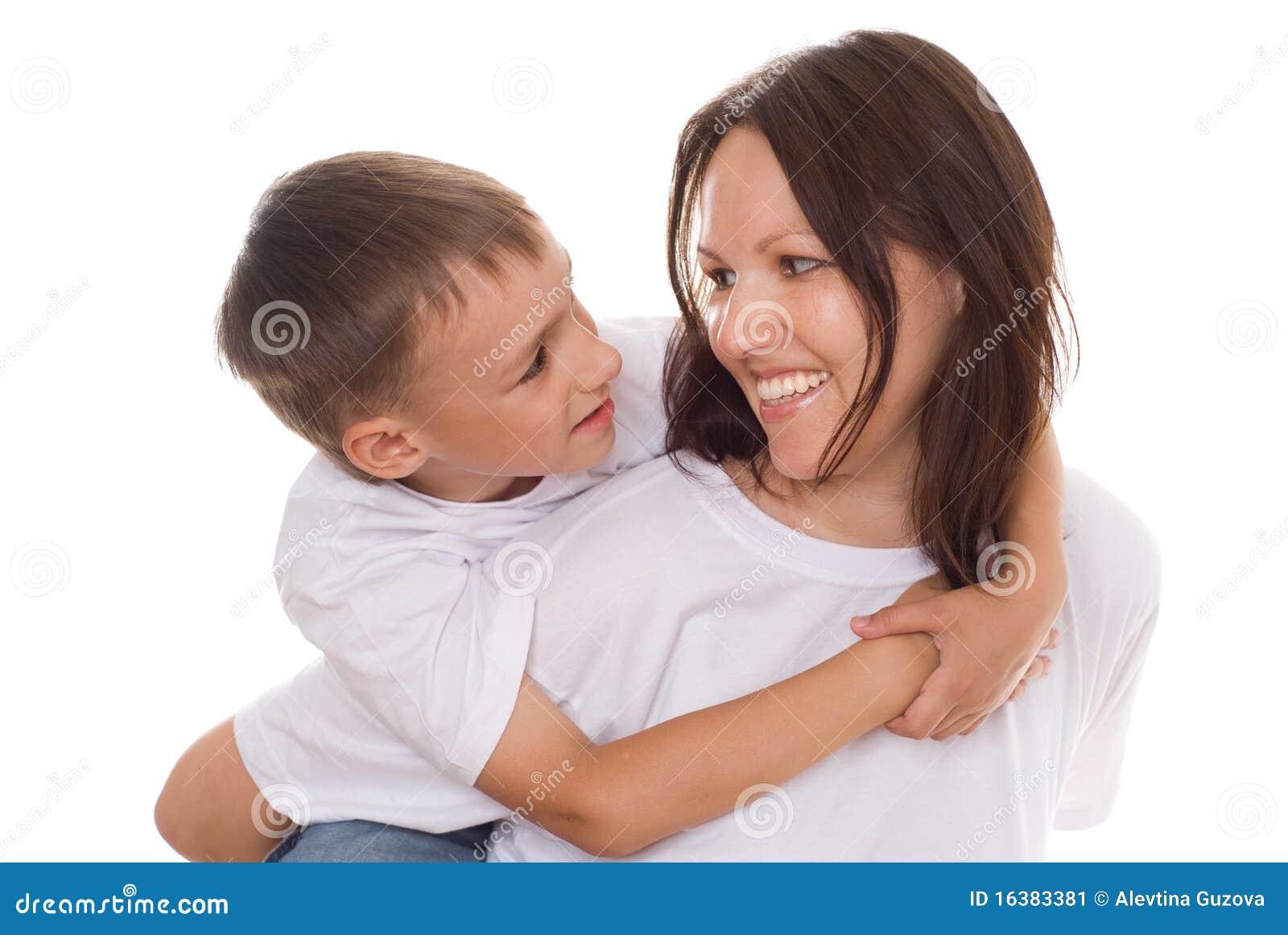 Z jej dzieckiem szczęśliwa matka