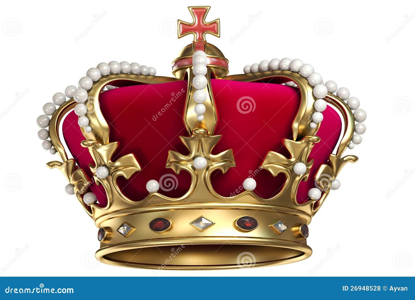 Z klejnotami złocista korona