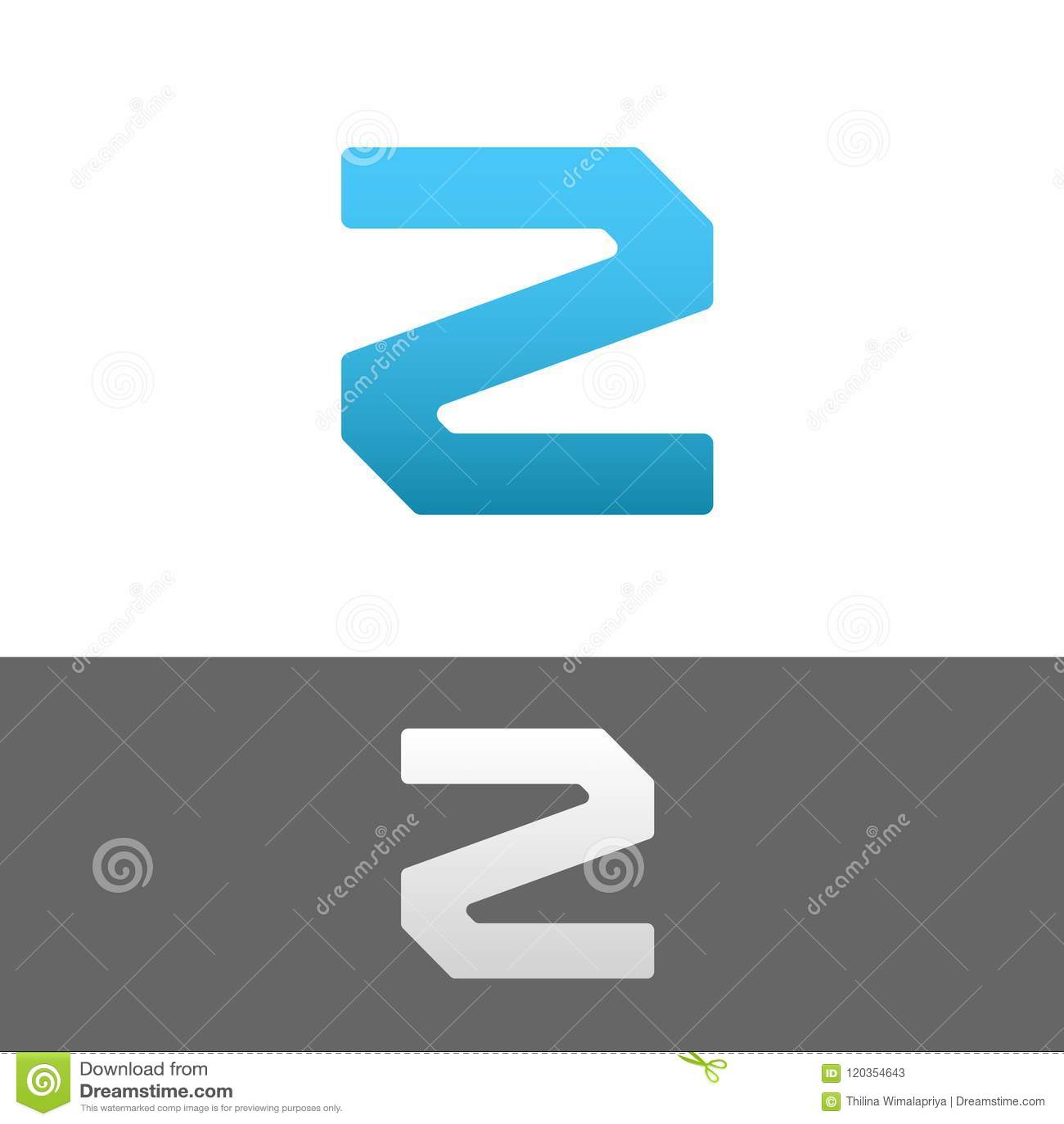 Z Letter Alphabet Abstract Text Logo Template Stock Vector