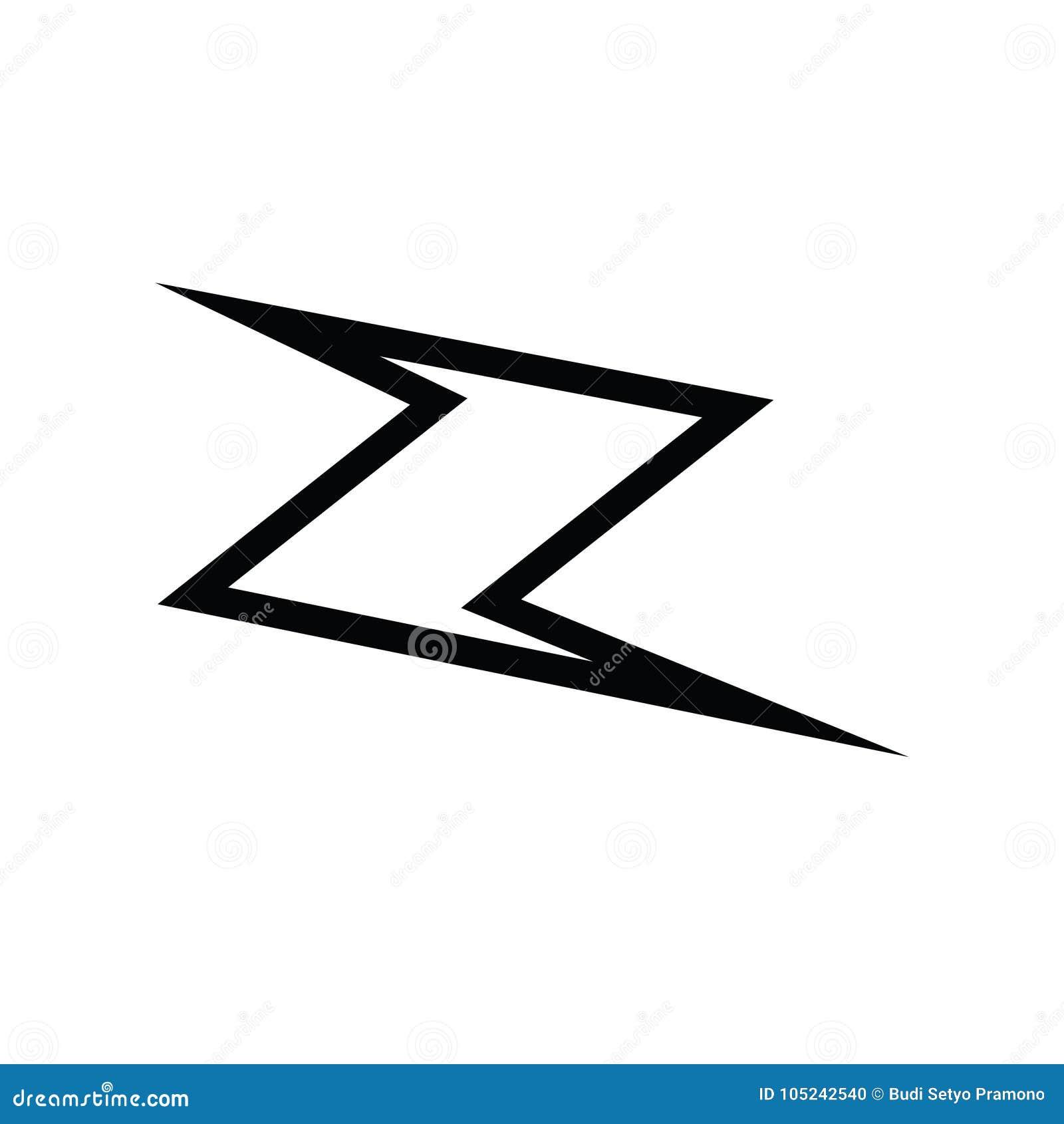 Z Logo Icon Symbol Vector Protector Stock Vector Illustration Of