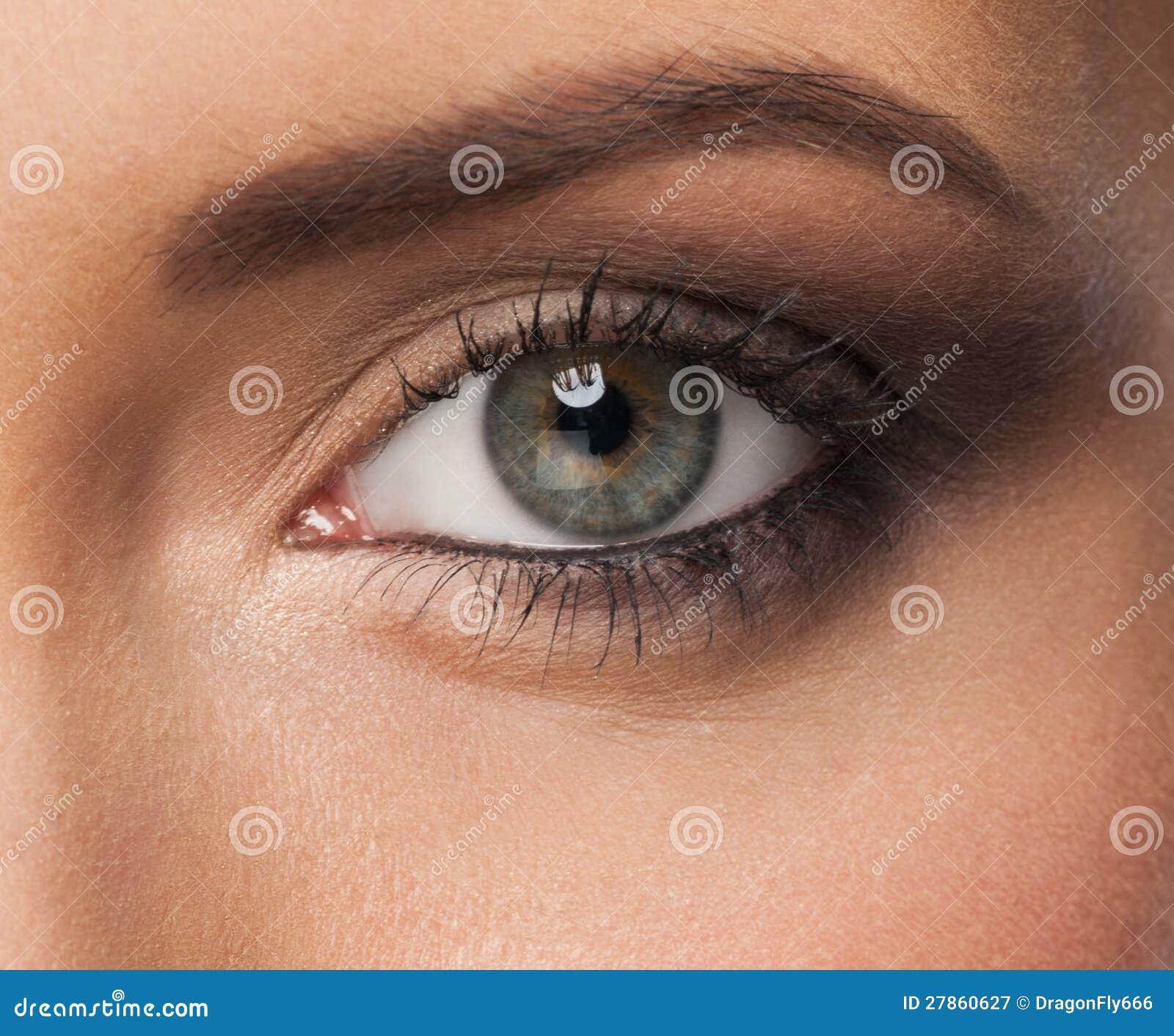 Z makeup kobiety oko