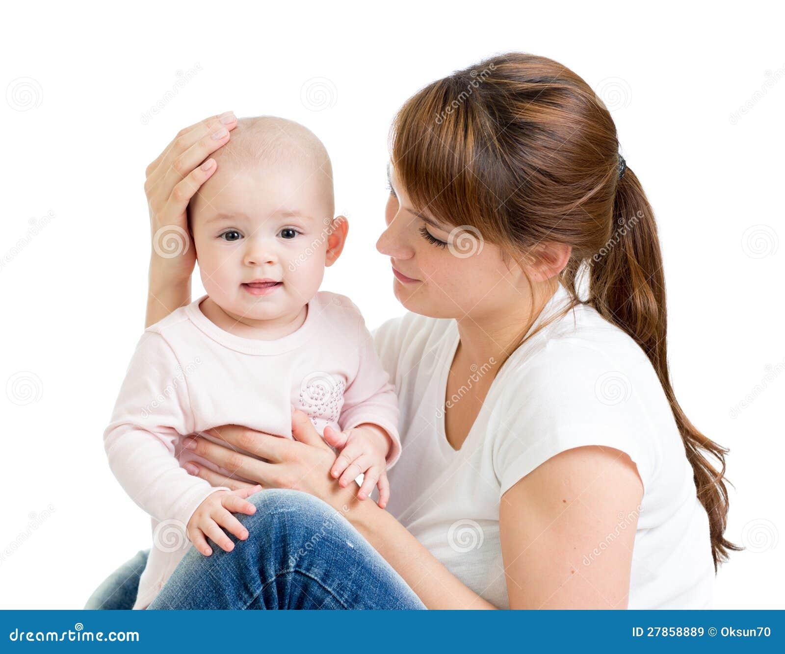 Z odizolowywającym jej dzieckiem kochająca matka