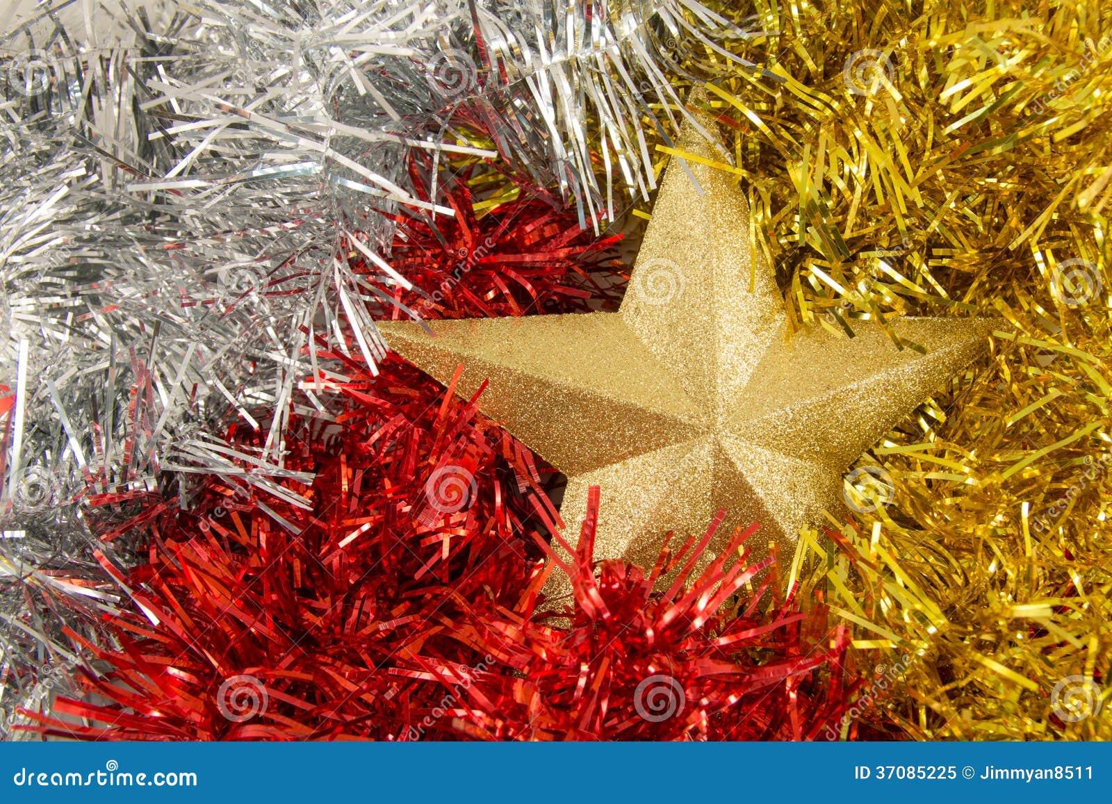 Download Złota gwiazda obraz stock. Obraz złożonej z radosny, christmas - 37085225