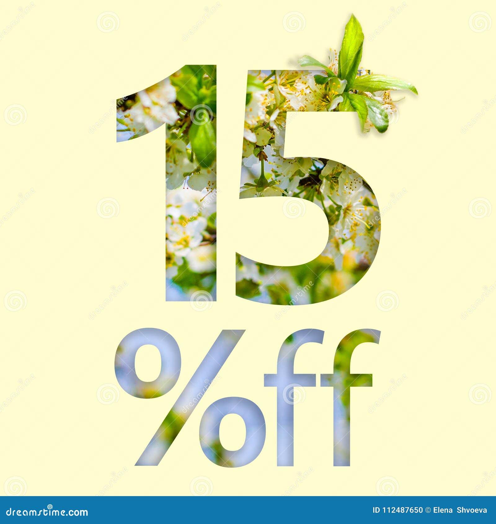 15  z rabata Pojęcie wiosny sprzedaż, elegancki plakat, sztandar, promocja, reklamy