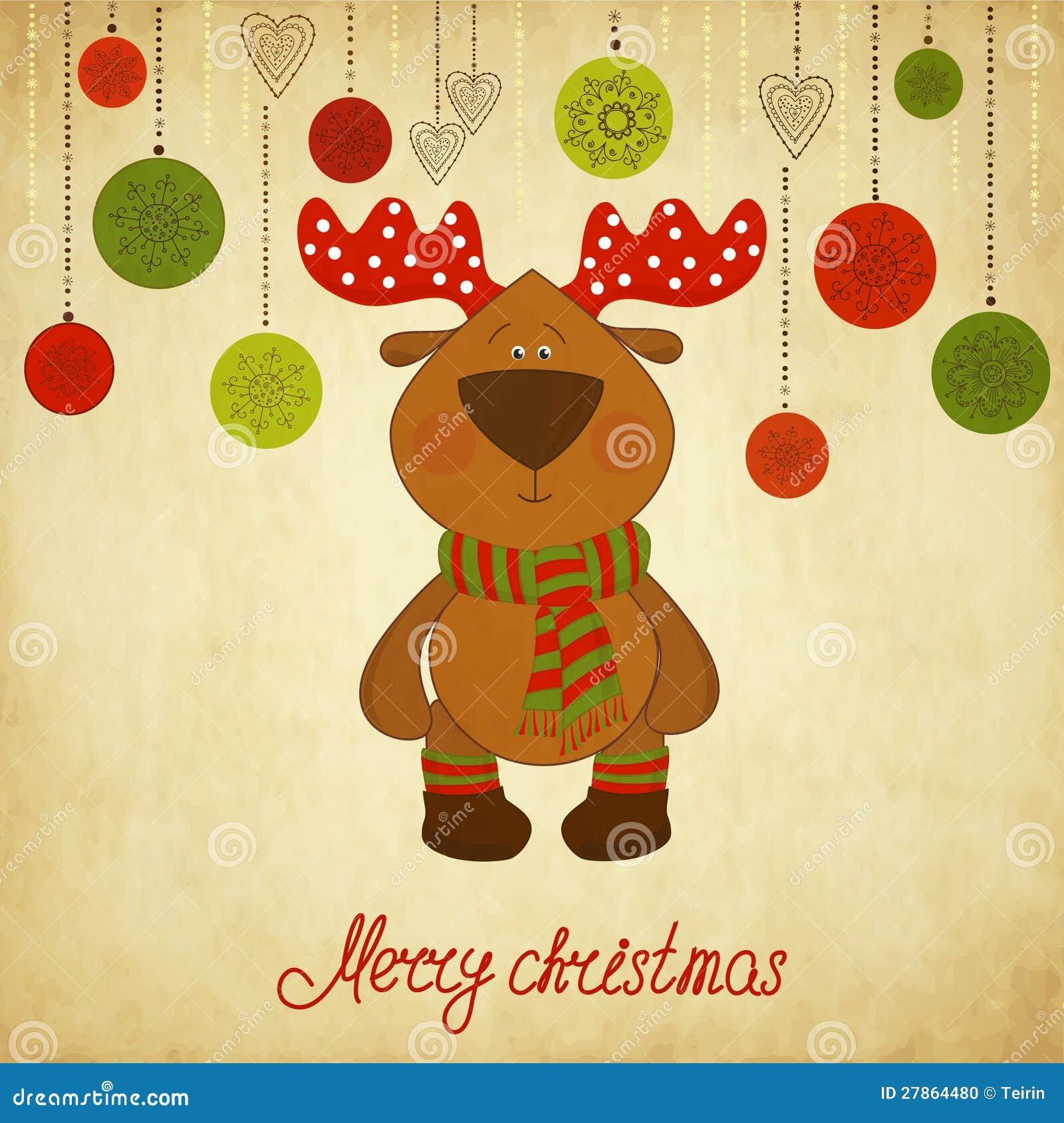 Z rogaczem Kartka bożonarodzeniowa