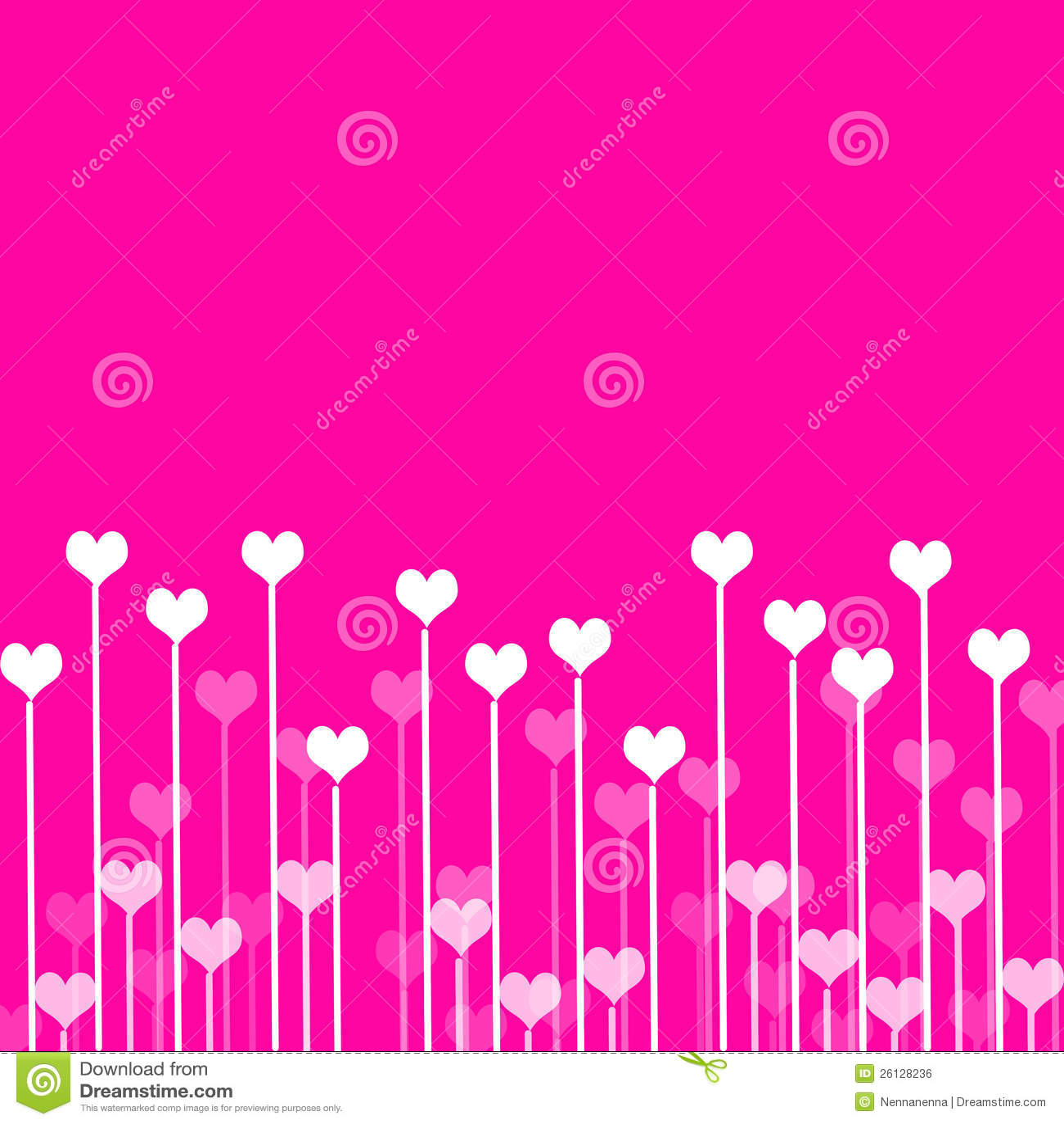Z sercami miłości tło