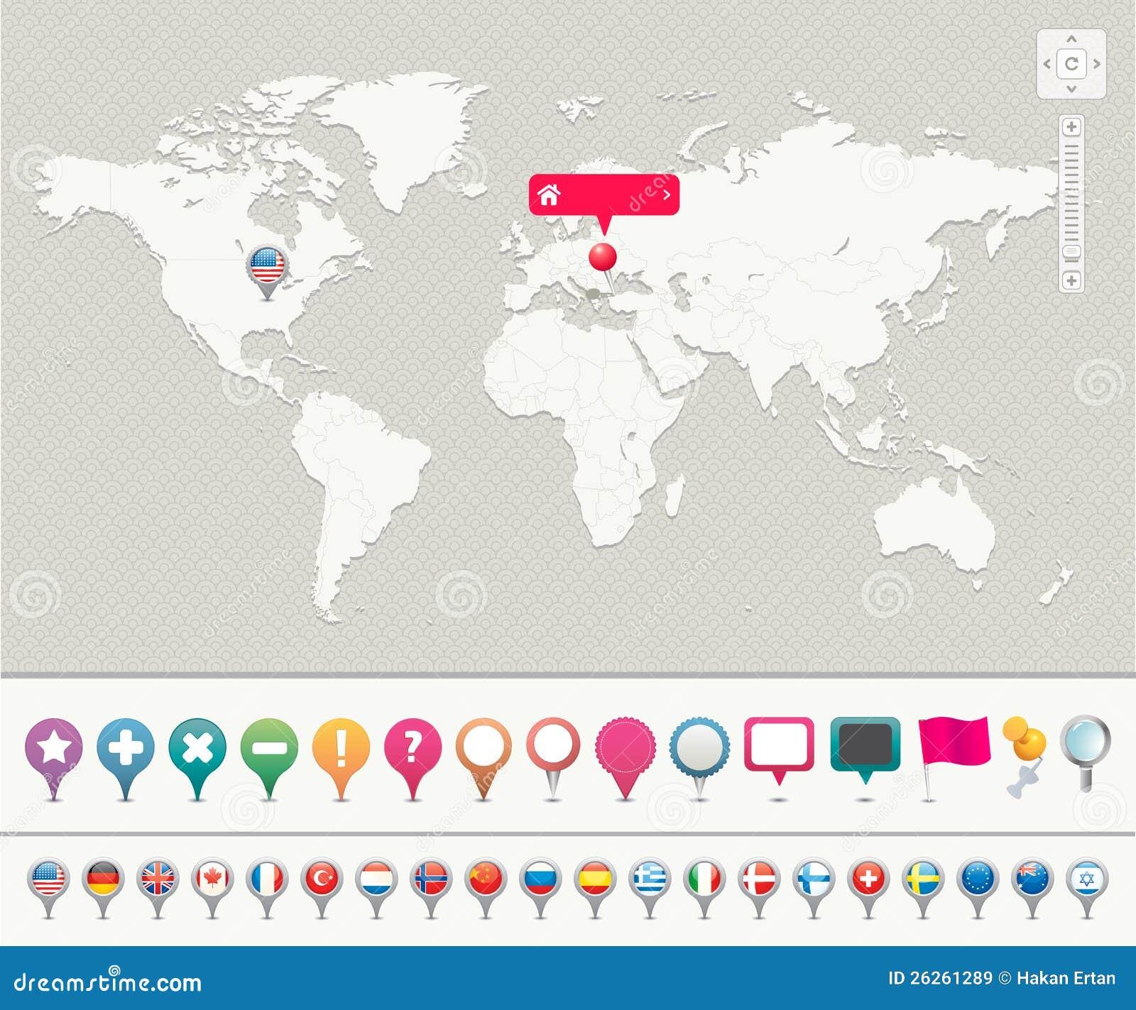 Z Szpilkami światowa Mapa