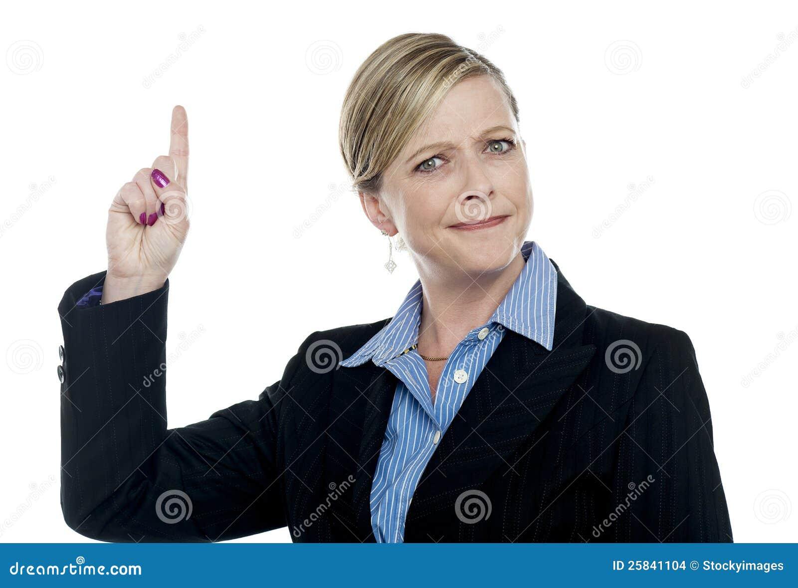 Z target444_0_ palec ekspresyjny bizneswoman