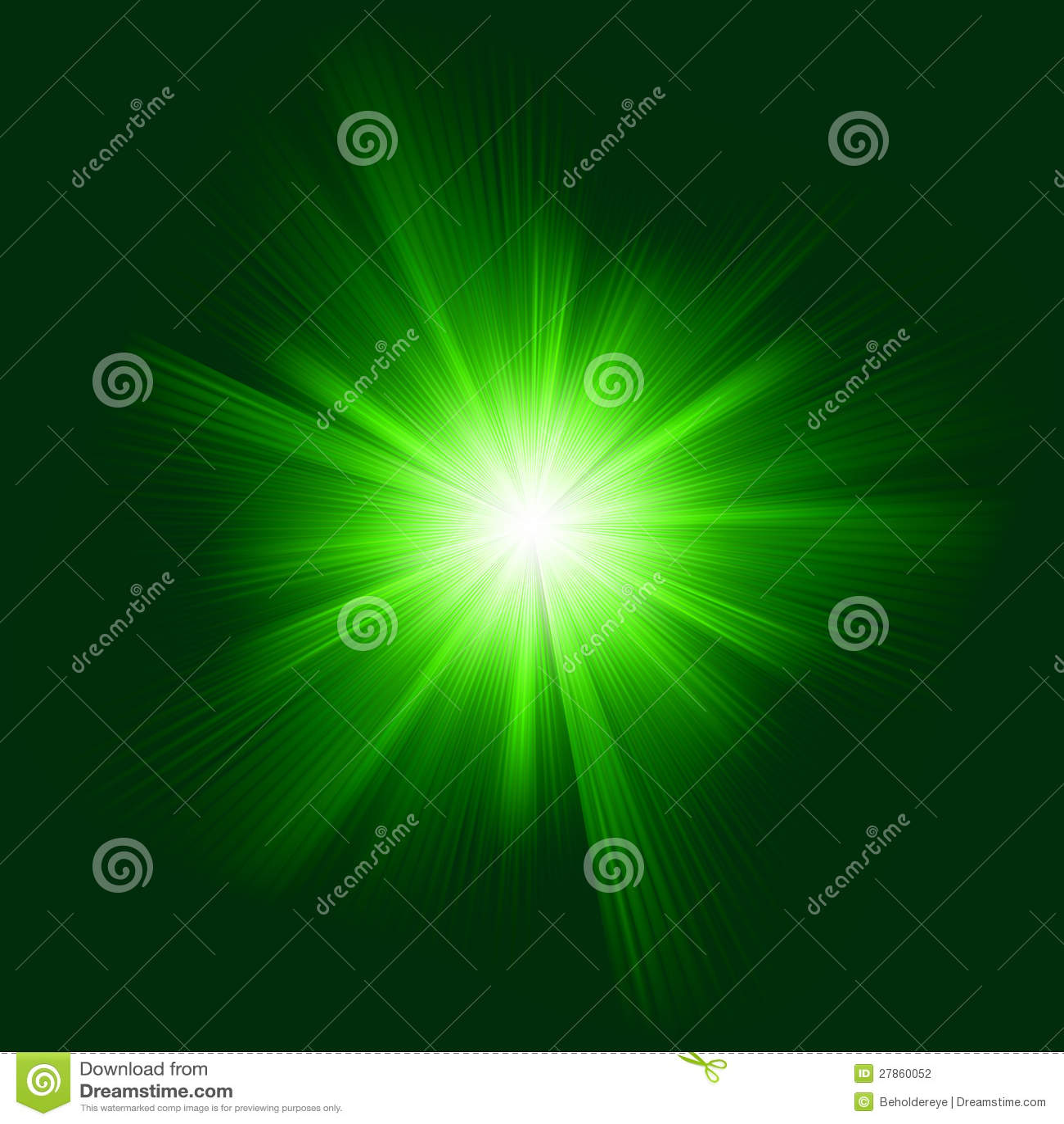 Z wybuchem koloru zielony projekt. EPS 8