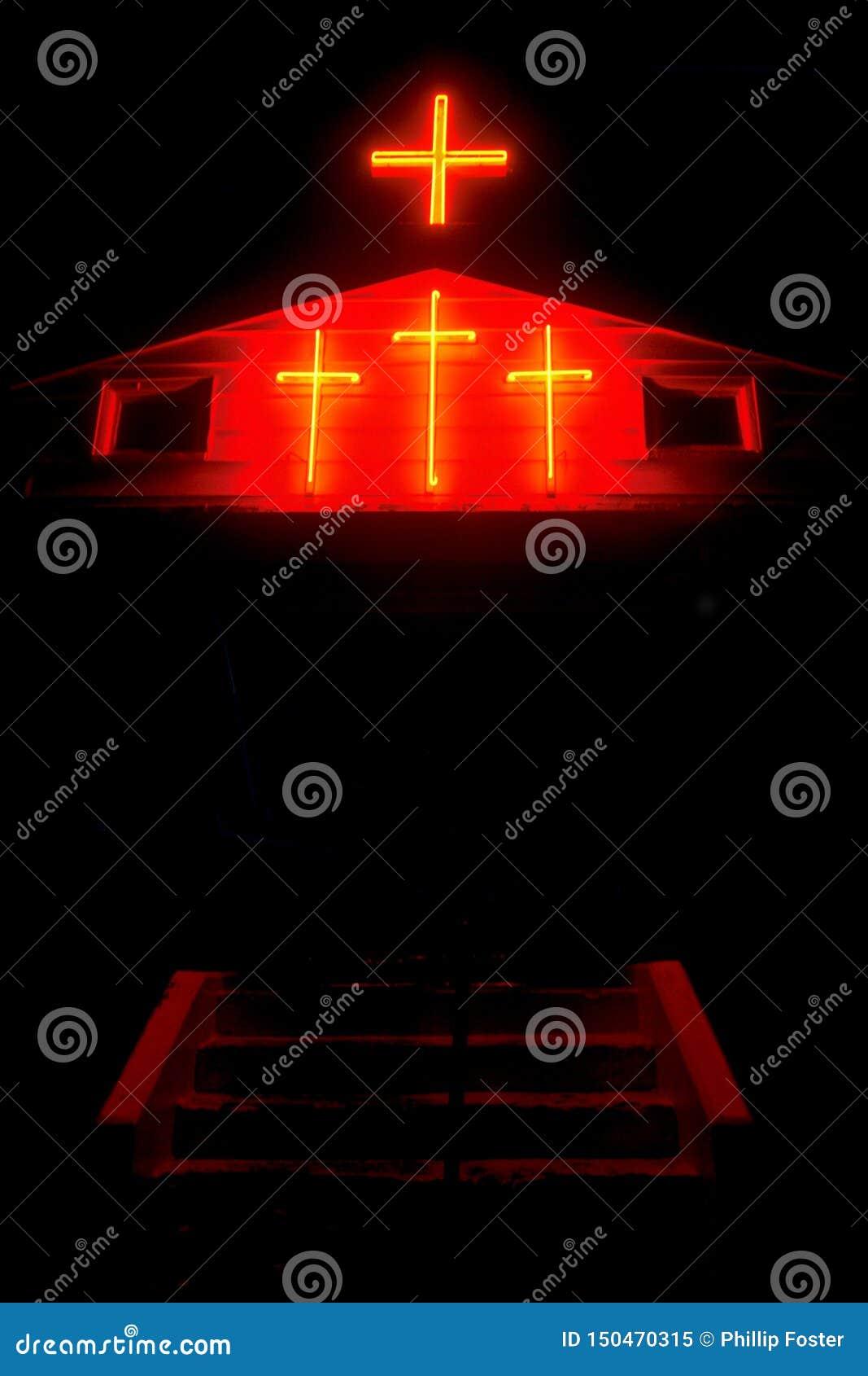Zaświecający krzyże w Kansas
