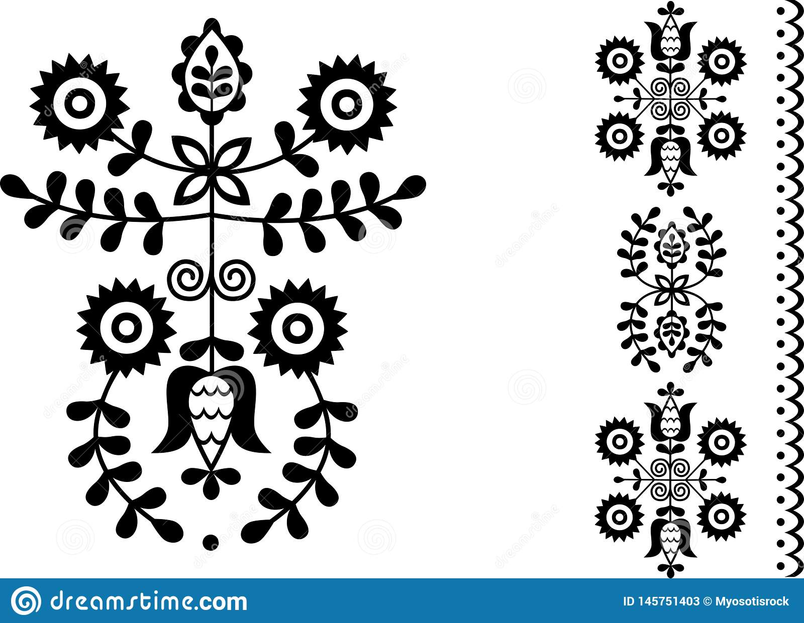 Folk embroidery from West Slovakia