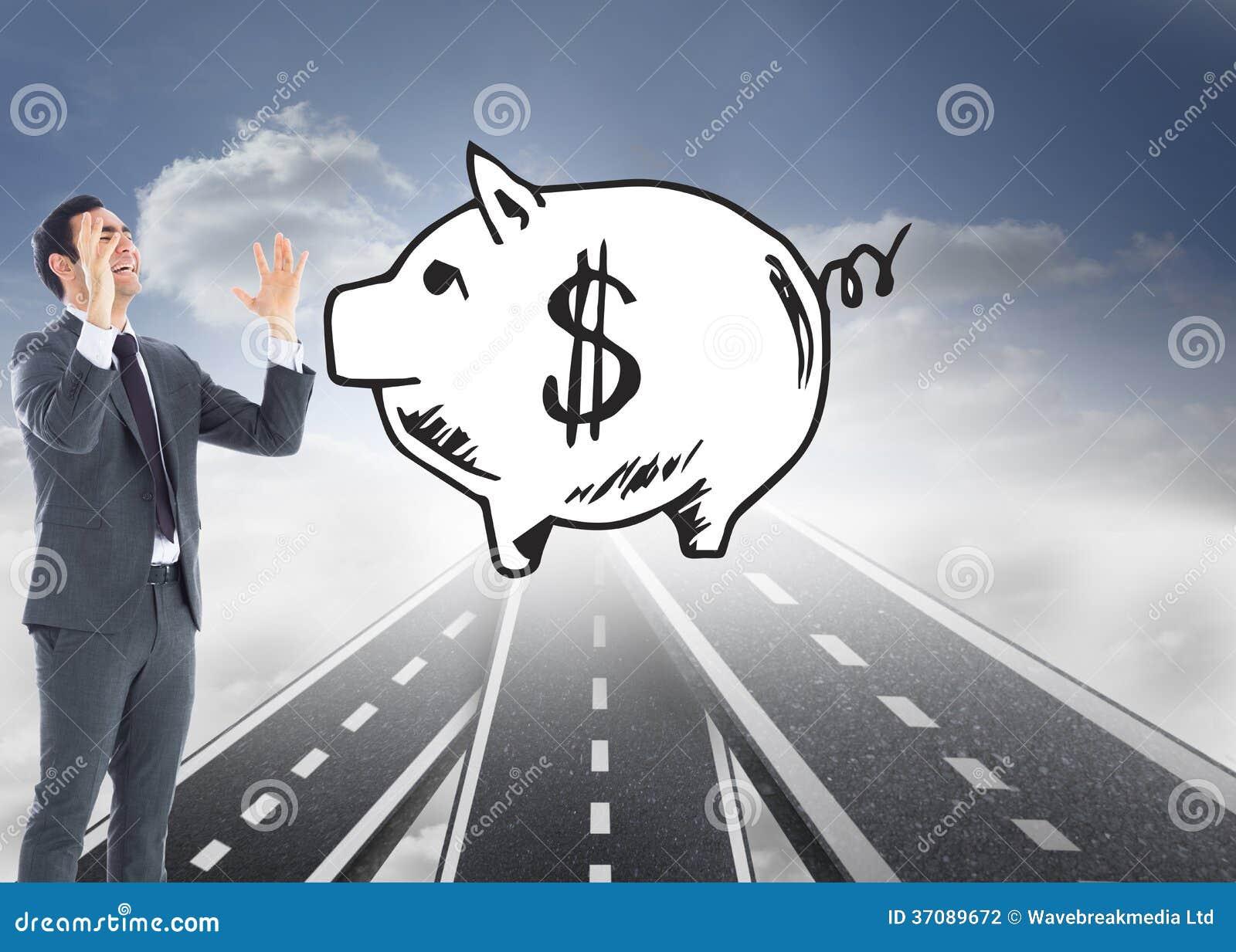 Download Zaakcentowany Biznesmen Z Rękami Podnosić Zdjęcie Stock - Obraz złożonej z sposób, niebo: 37089672