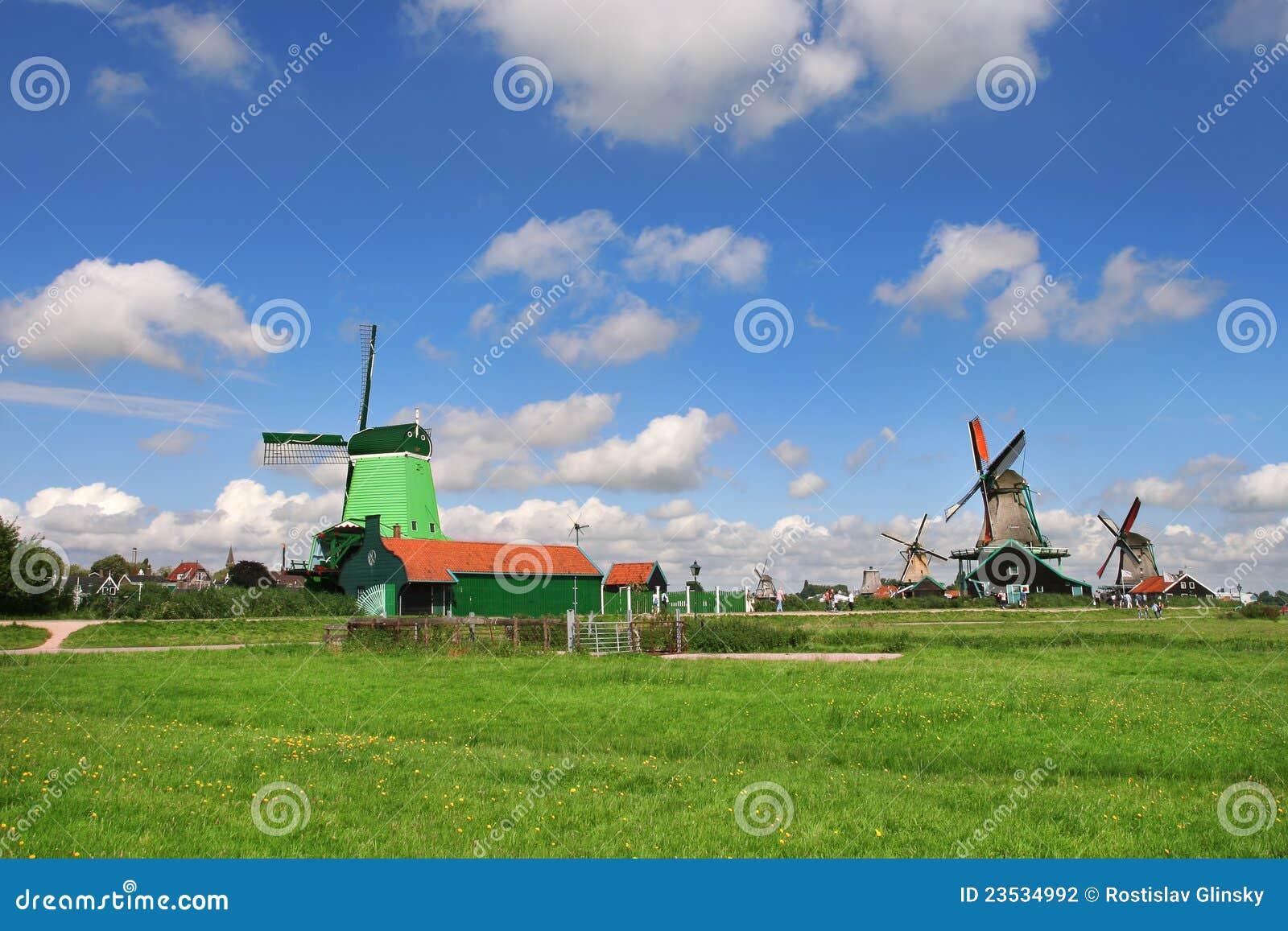 Zaanse Schans Dorf. Die Niederlande.
