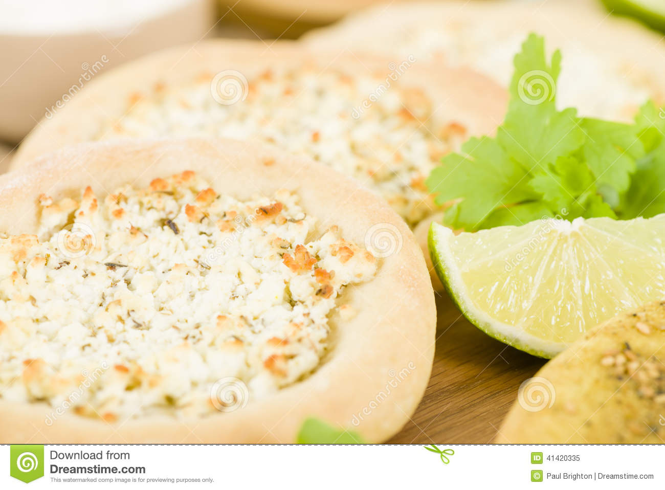 Zaatar & Cheese Manakish - Flatbreads topped with zaatar and olive oil ...