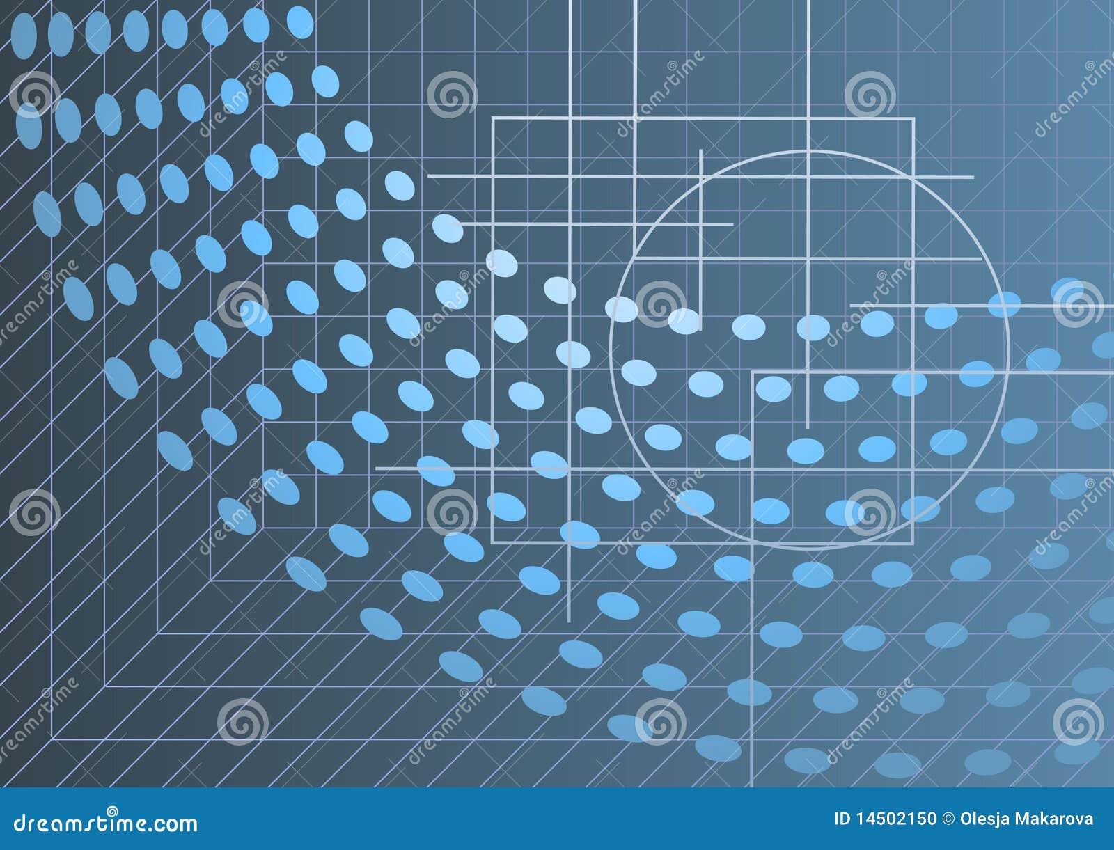 Zaawansowany technicznie abstrakcjonistyczny tło