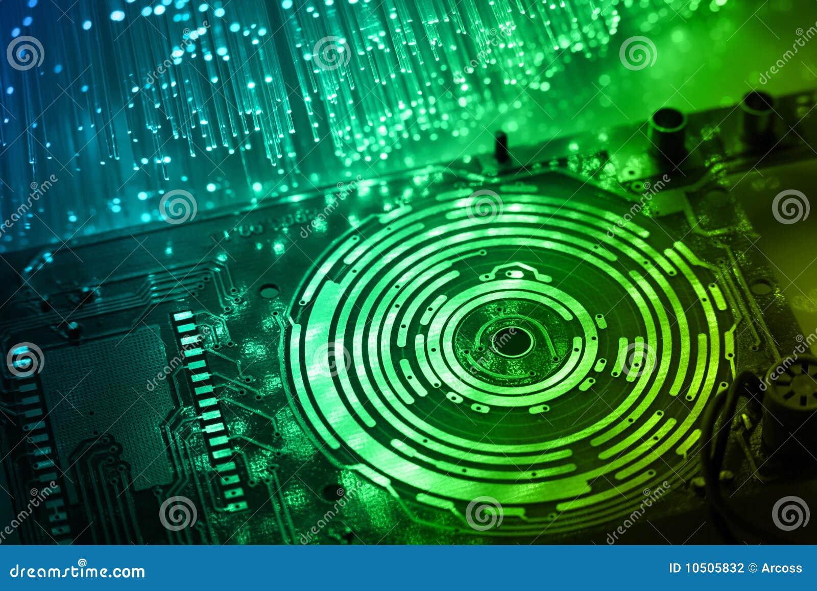Zaawansowany technicznie tło technologia