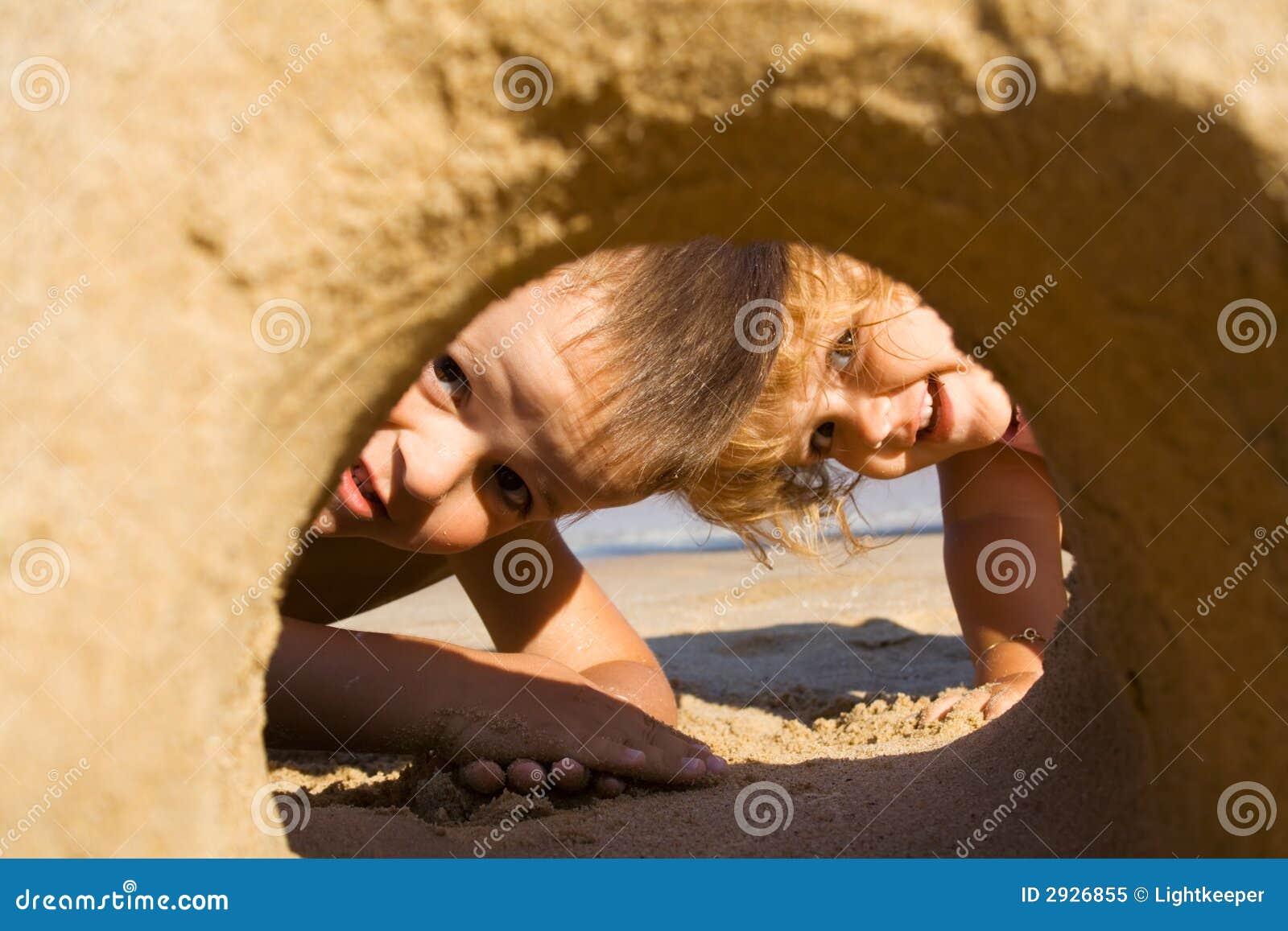 Zabawa piasku