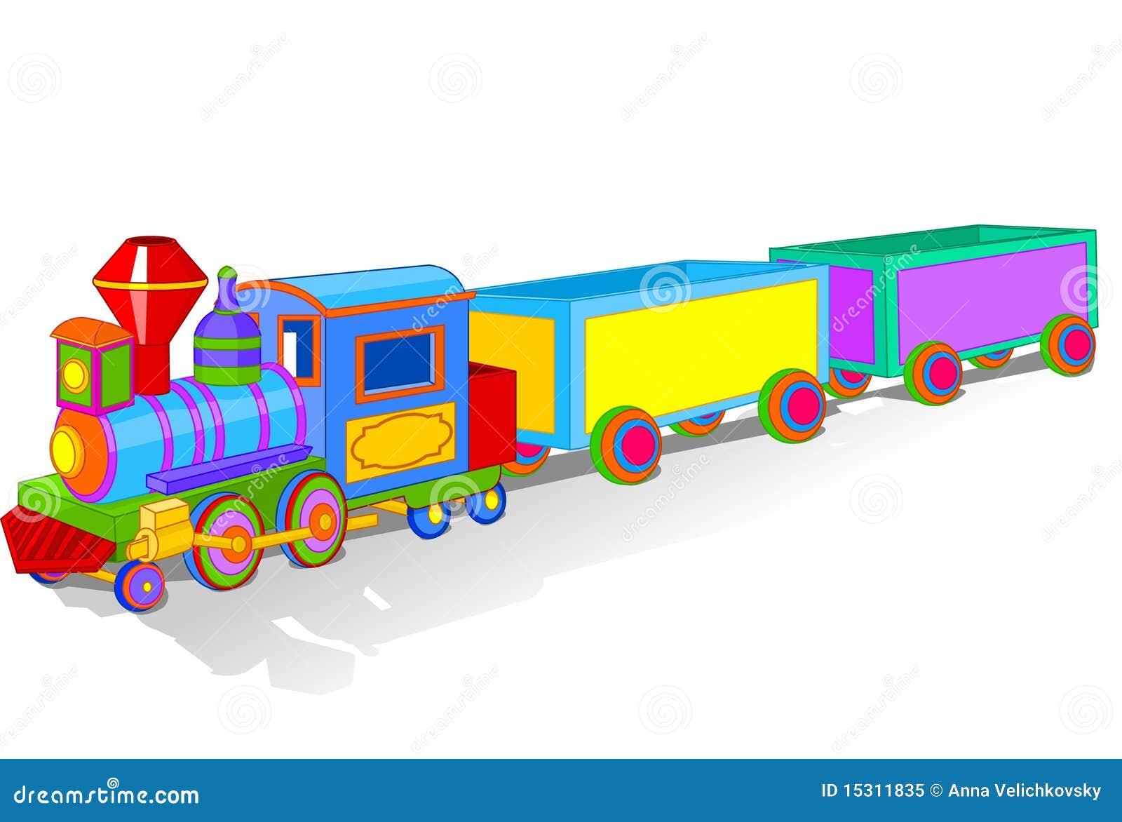 Zabawka kolorowy pociąg