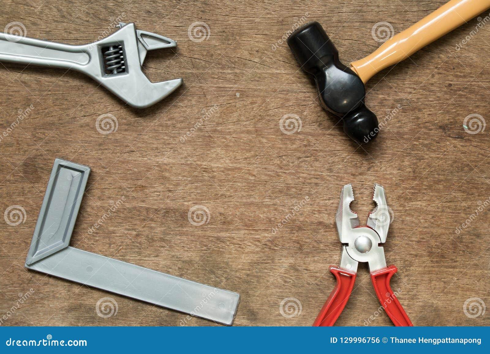 Zabawkarski wyposażenia narzędzia młot, mechinist kwadrat, wyrwanie, cążki