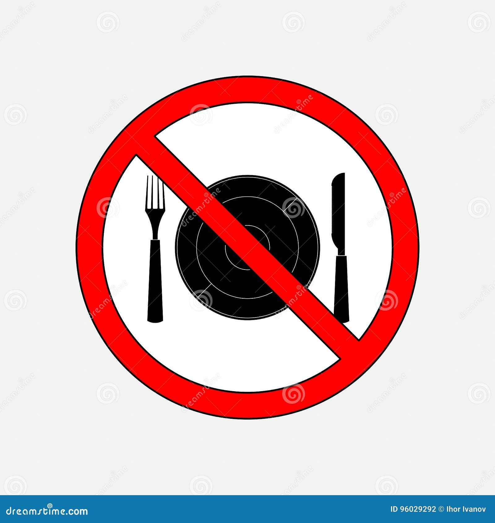 Zabraniać szyldowy je, cutlery nóż i rozwidlenie