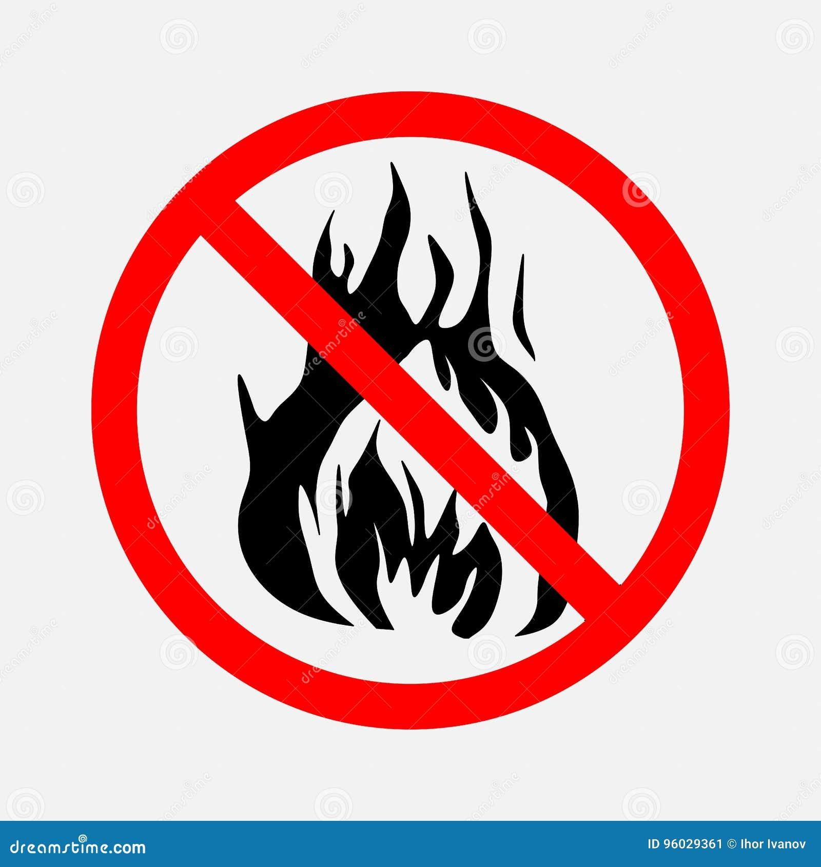Zabraniający znaka żadny ogień