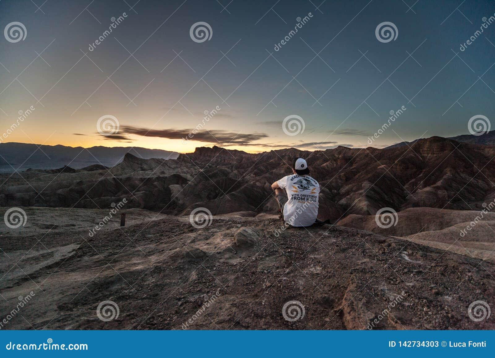 Zabriskie-Punkt, Death Valley, Kalifornien, USA
