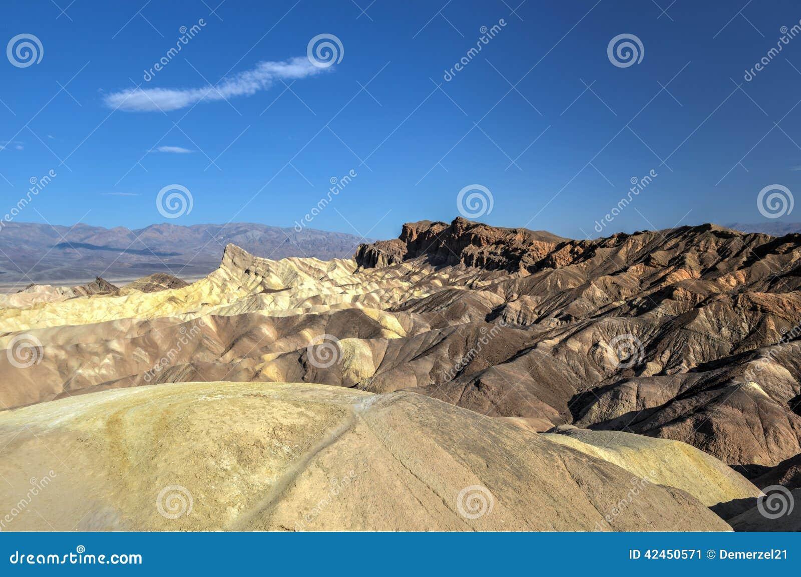 Zabriskie-Punkt in Nationalpark Death Valley, Kalifornien