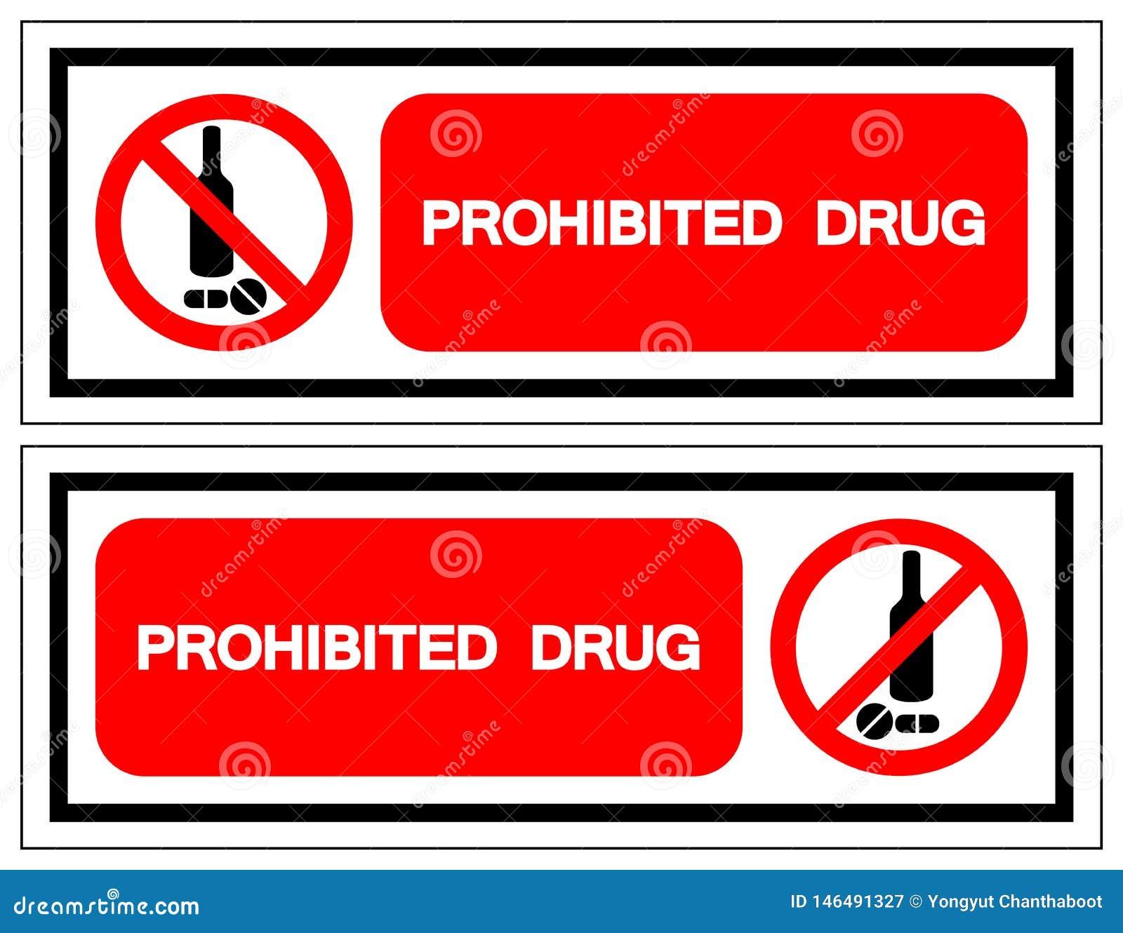 Zabroniony leka symbolu znak, Wektorowa ilustracja, Odizolowywa Na Bia?ej t?o etykietce EPS10
