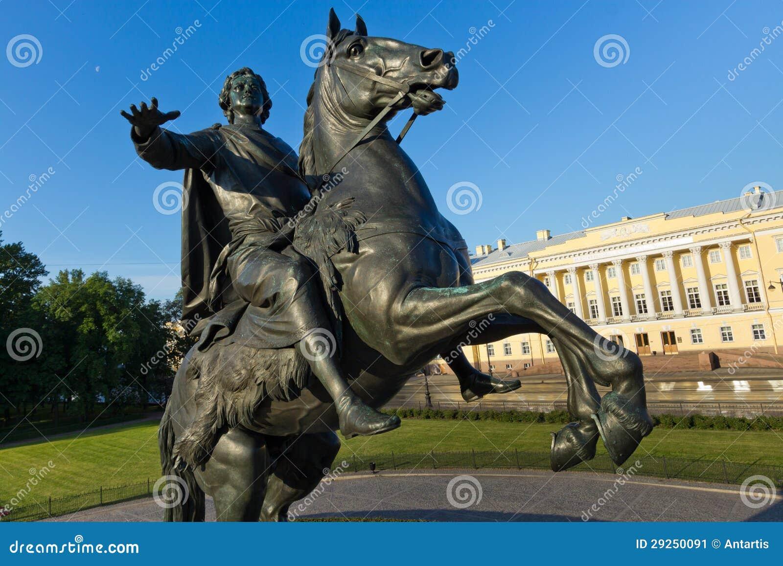 Zabytek Brązowy jeździec w St. Petersburg