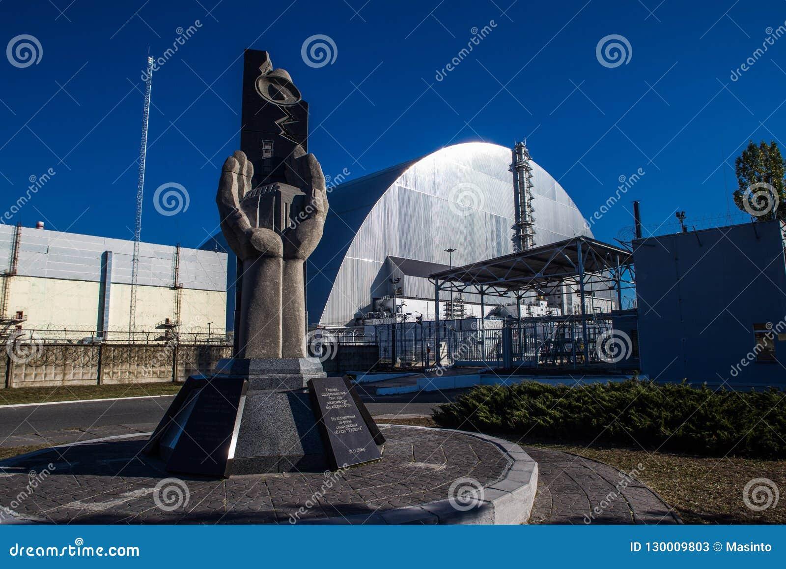 Zabytku i Chernobyl Nowy Bezpieczny uwiezienie