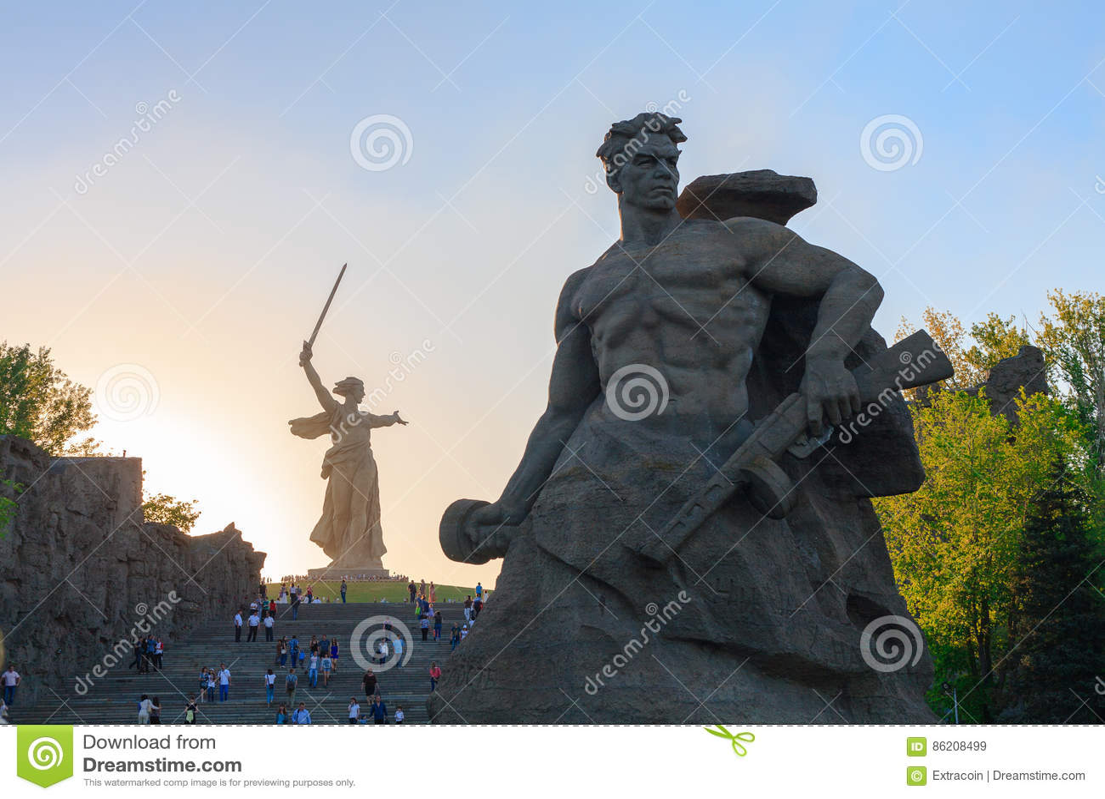 Zabytku pobyt śmierć w Mamaev Kurgan, Volgograd