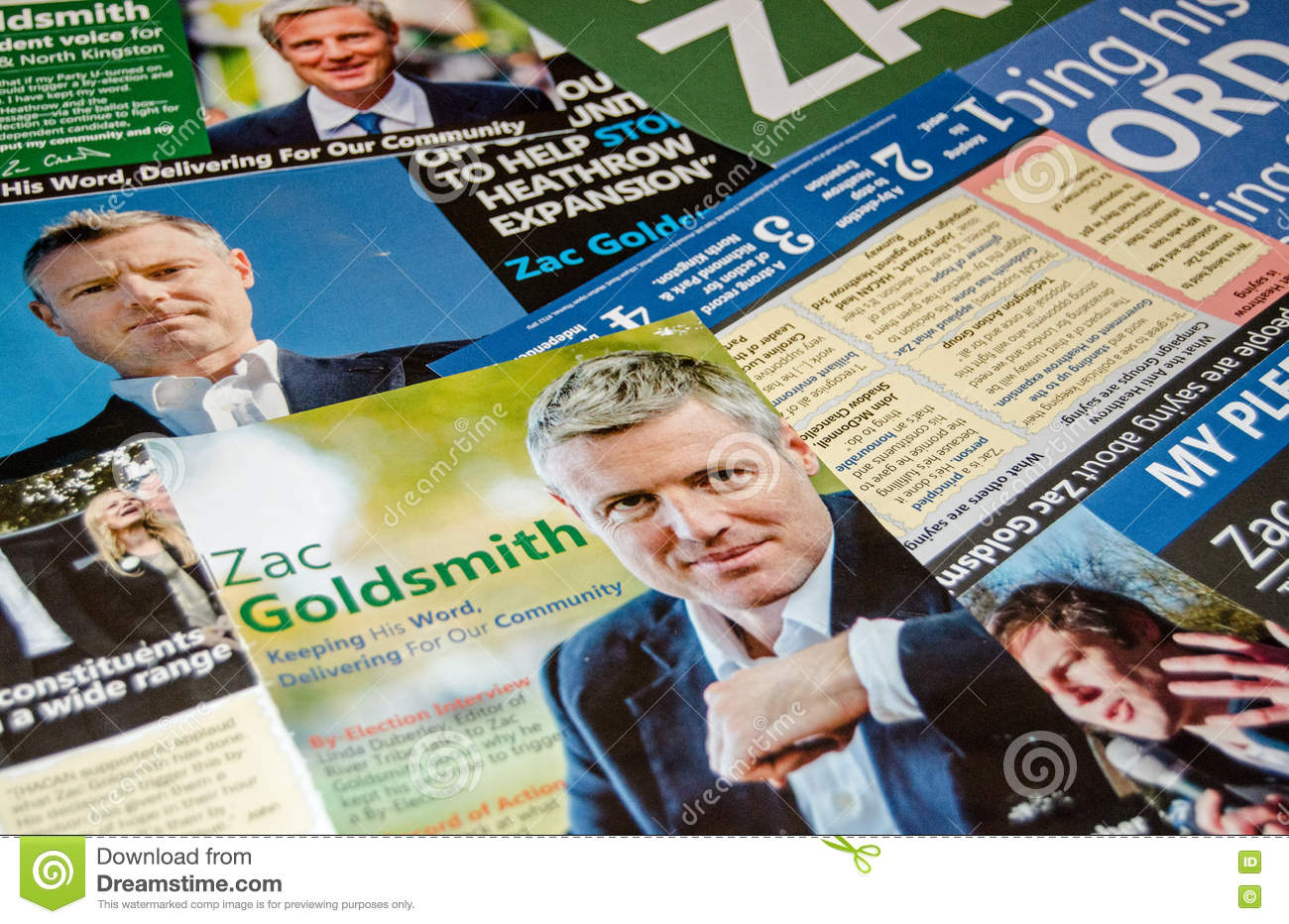 Zac Goldsmith by-election leaflets
