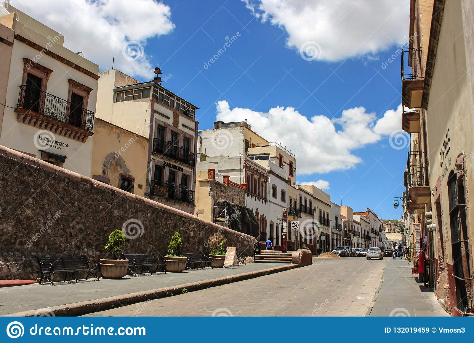 Zacatecas śródmieścia ulica Meksyk magii miasteczko