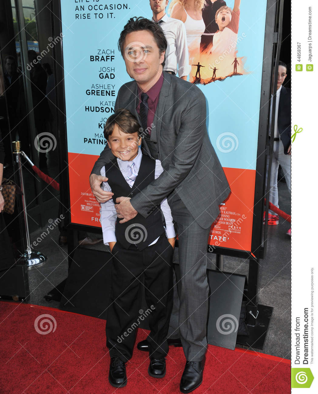 Zach Braff y Pierce Gagnon