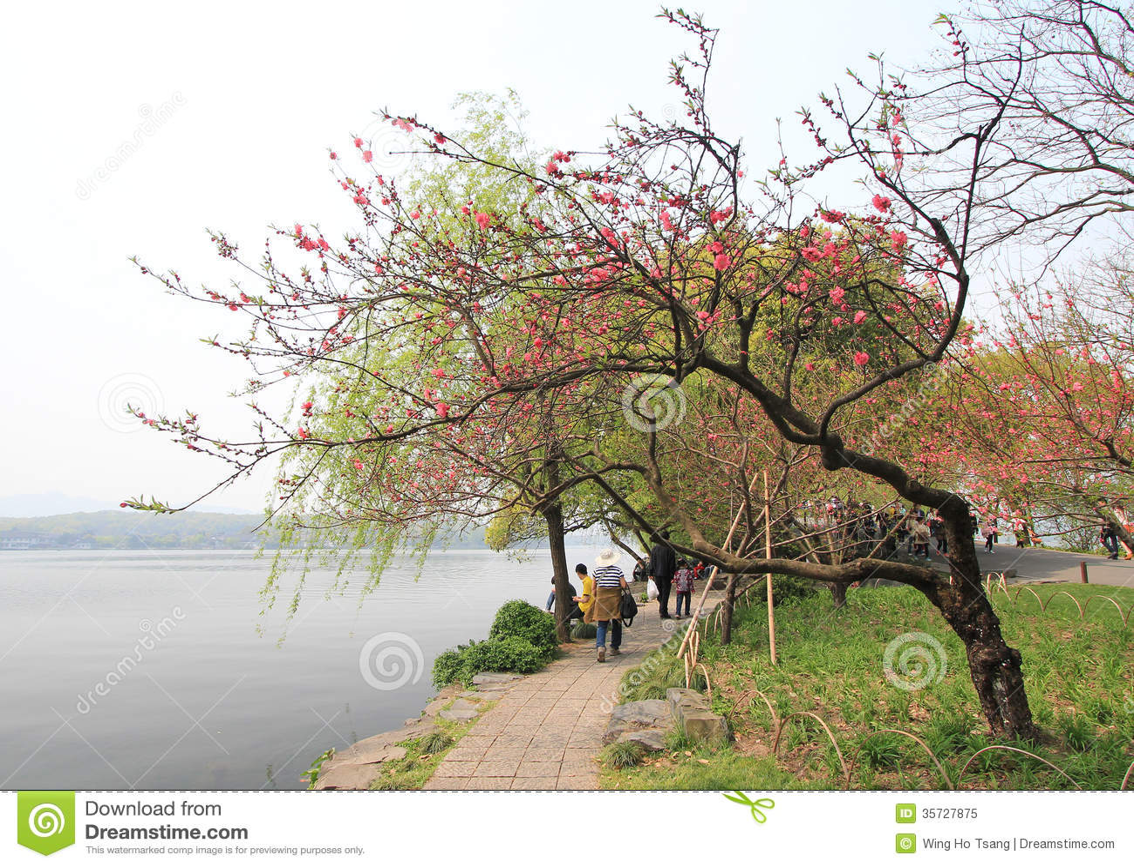 Zachodni jezioro w Hangzhou, porcelana