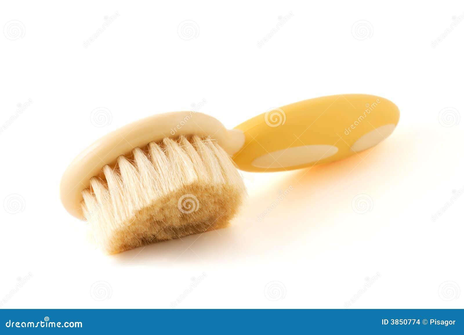 Zachte haarborstel voor babys stock foto afbeelding 3850774 - Witte kapper ...