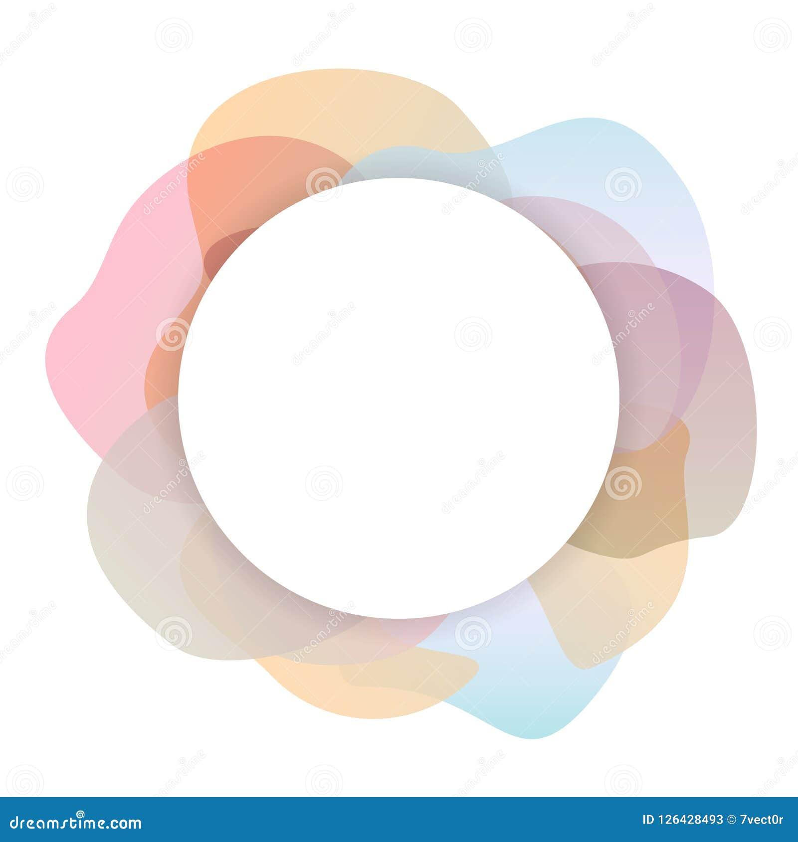 Zachte pastelkleur gekleurde de cirkelachtergrond van gradiëntvormen