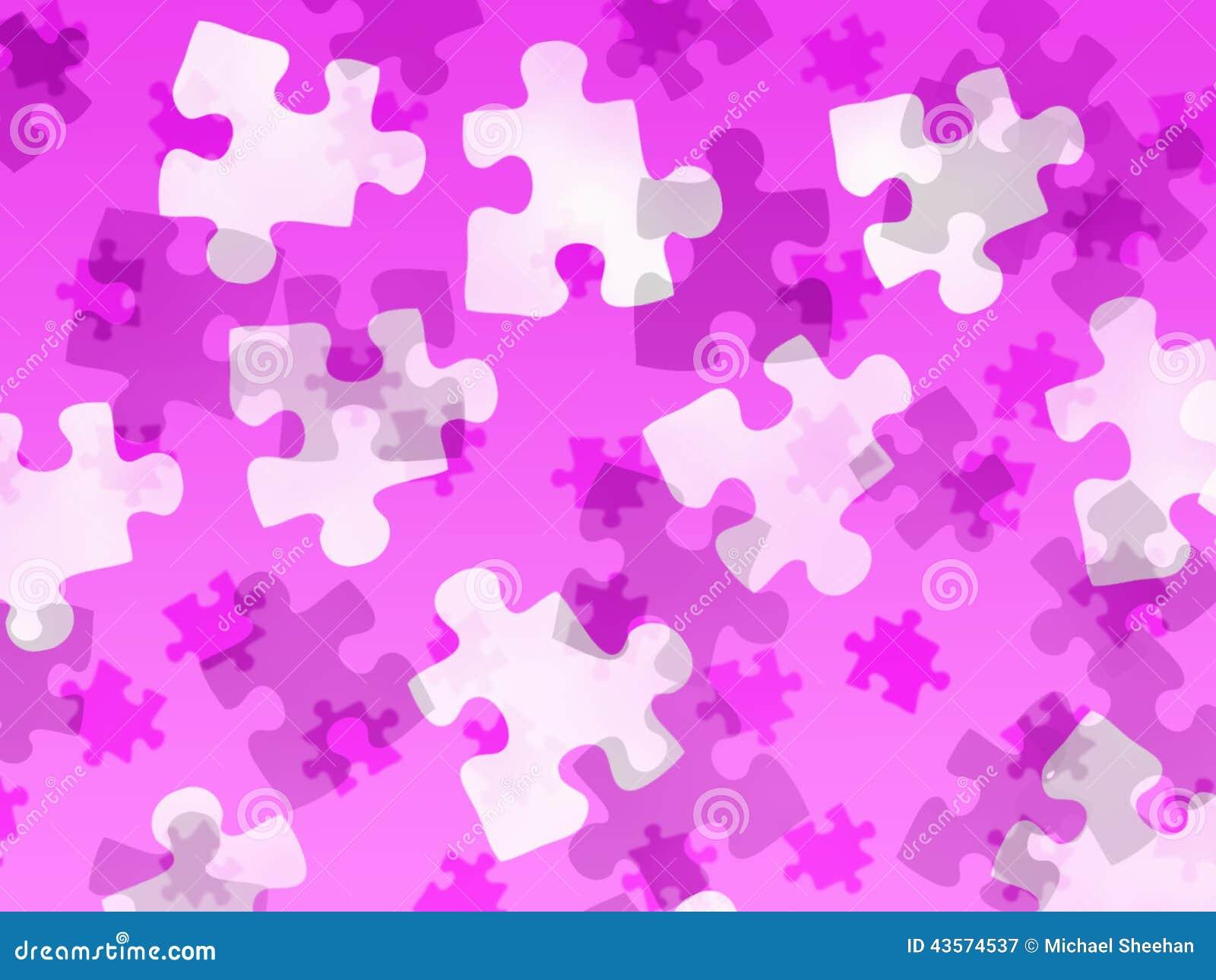 Zackige Stücke auf einer rosa Steigung