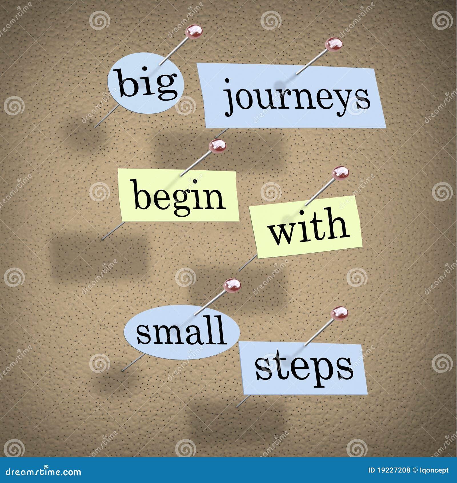 Zaczyna duży podróży małych kroki