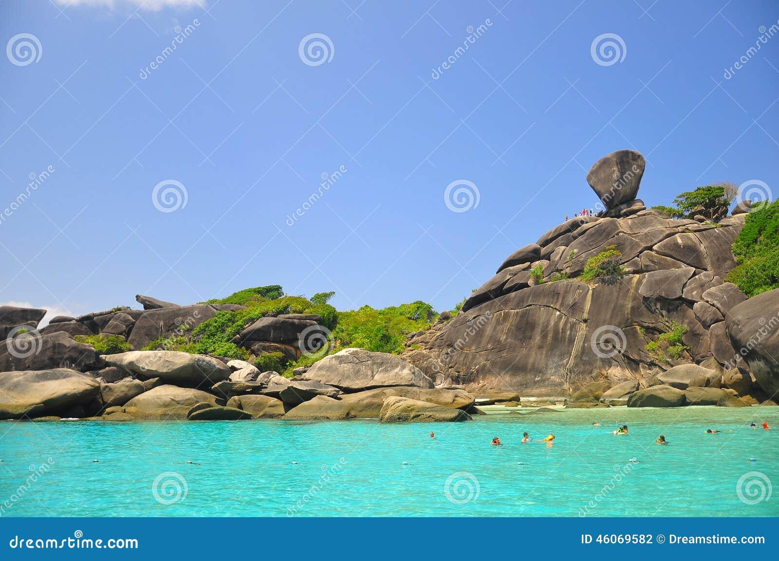 Zadziwiać Similan wyspę, Tajlandia