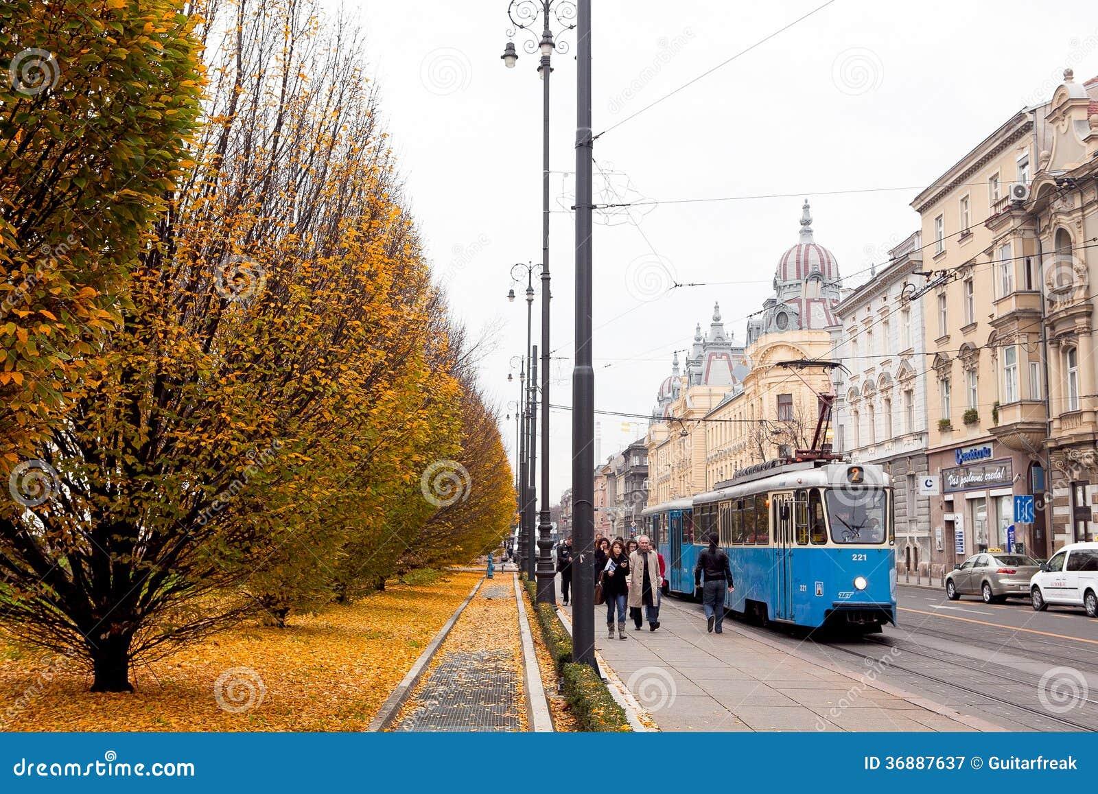 Download Zagabria nella caduta fotografia editoriale. Immagine di tempo - 36887637