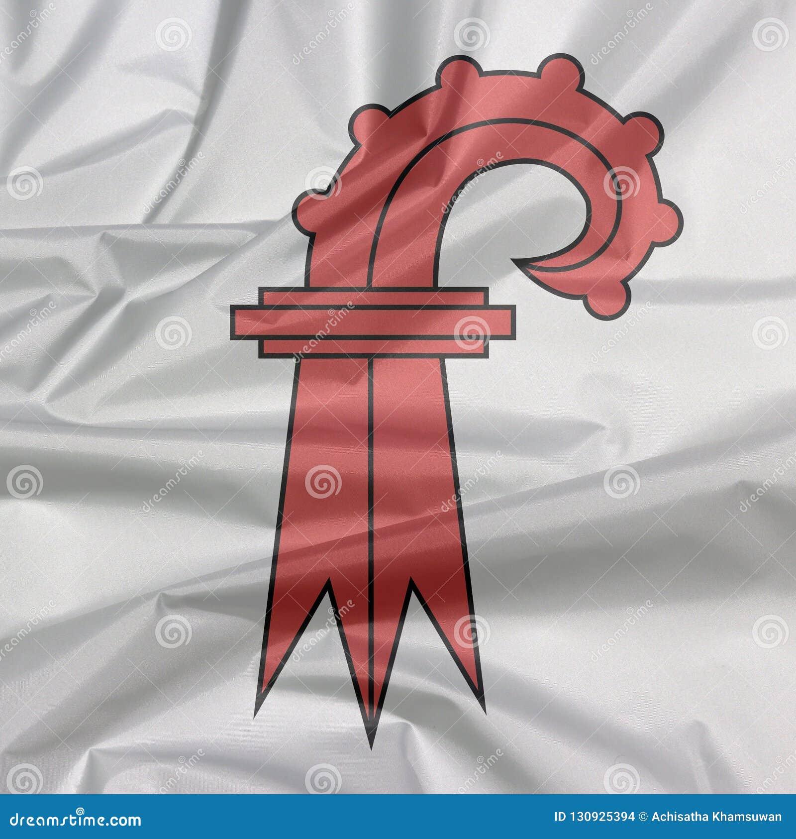 Zagniecenie basel flagi tło kanton Szwajcaria konfederacja