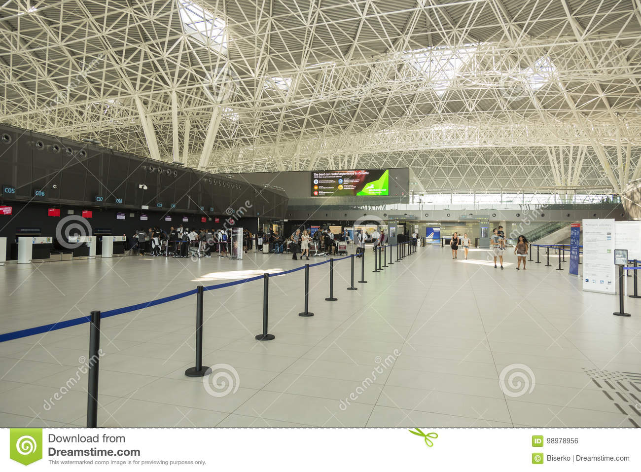 Zagreb Airport In Croatia Editorial Photo Image Of Roof 98978956