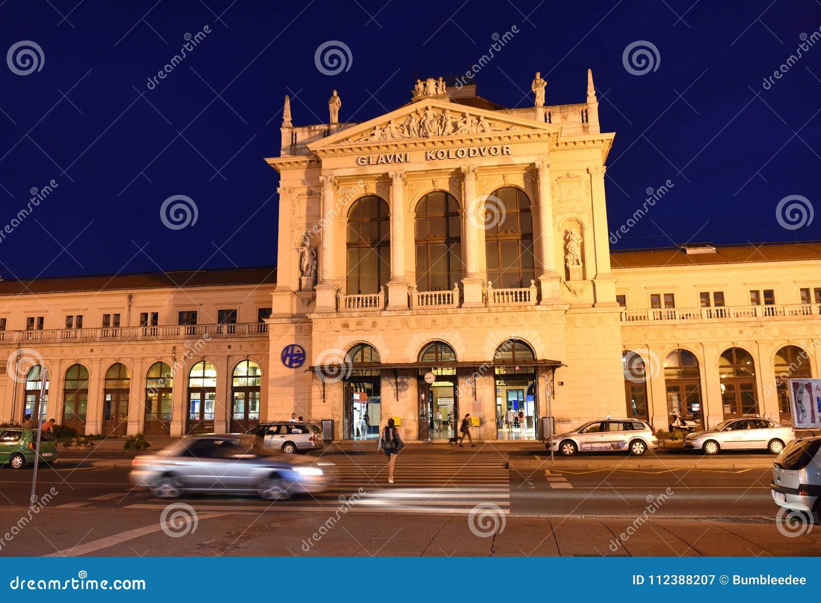 Zagreb Chorwacja, Sierpień, - 17, 2017: Zagreb dworca główny bui