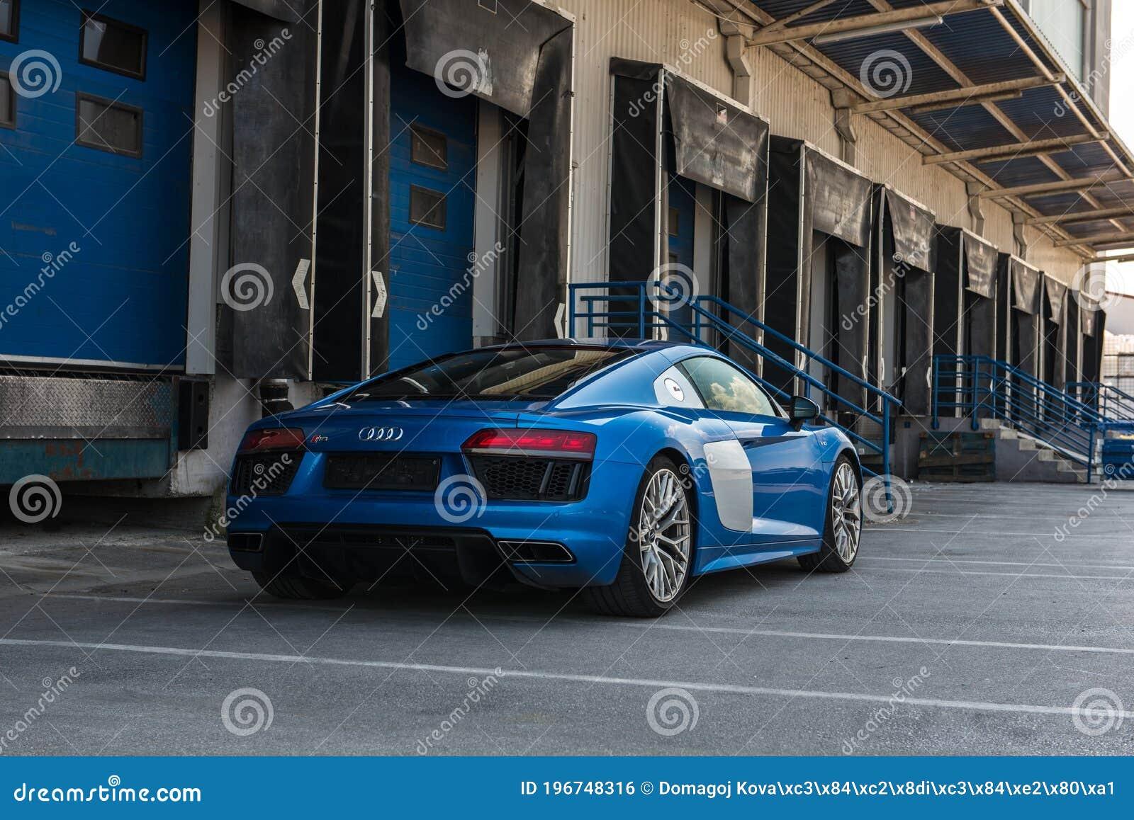 Audi R8 V10 In Blue Colour Audi S Sports Car Luxury R8 Editorial Photo Image Of Zagreb Wallpaper 196748316
