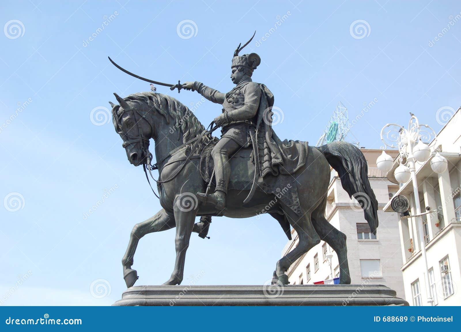 Zagreb : Héros sur un cheval