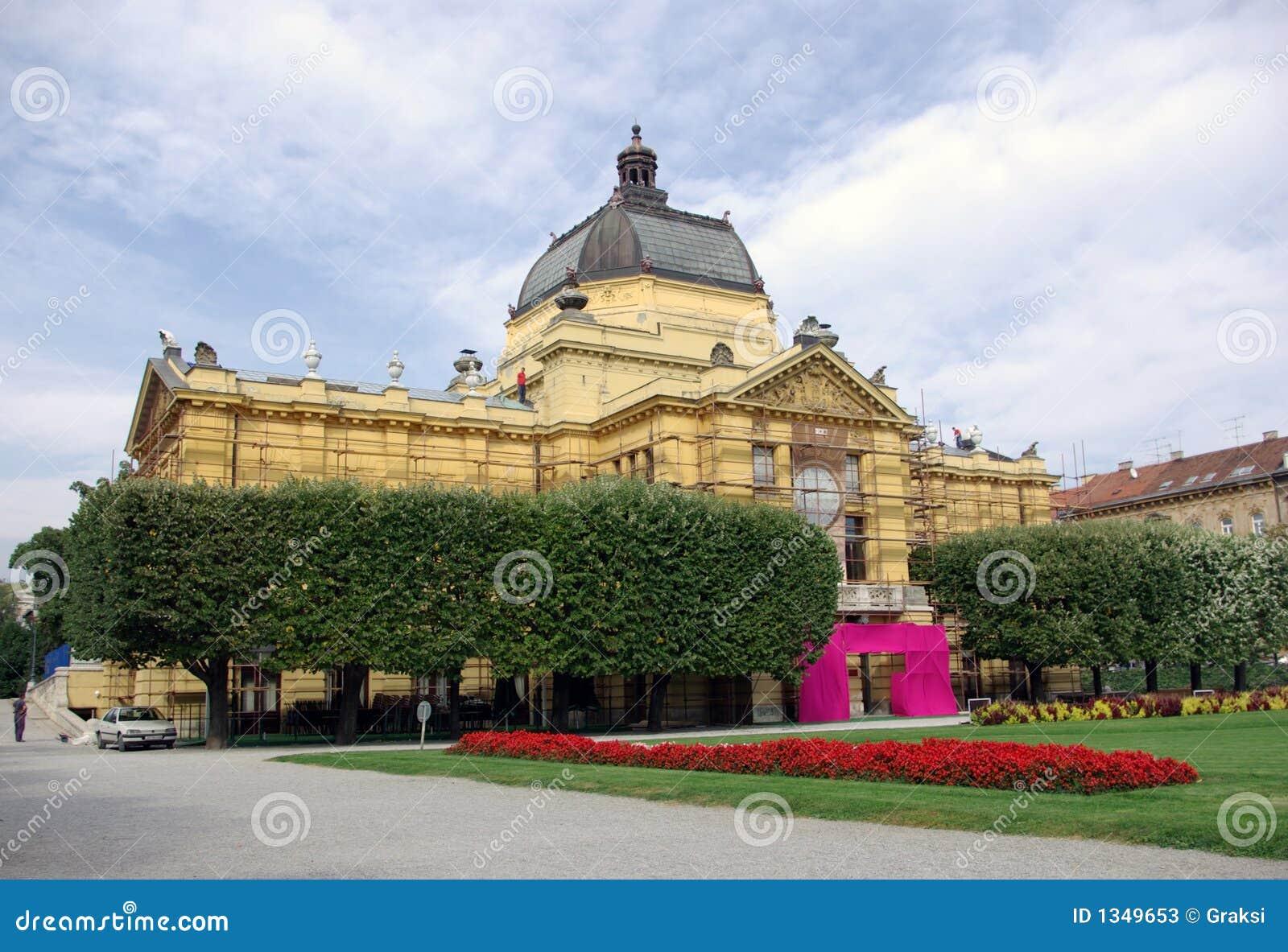 Zagreb - het paviljoen van de Kunst